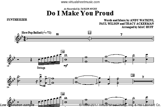 Do I Make You Proud (COMPLETE) sheet music for orchestra by Andy Watkins