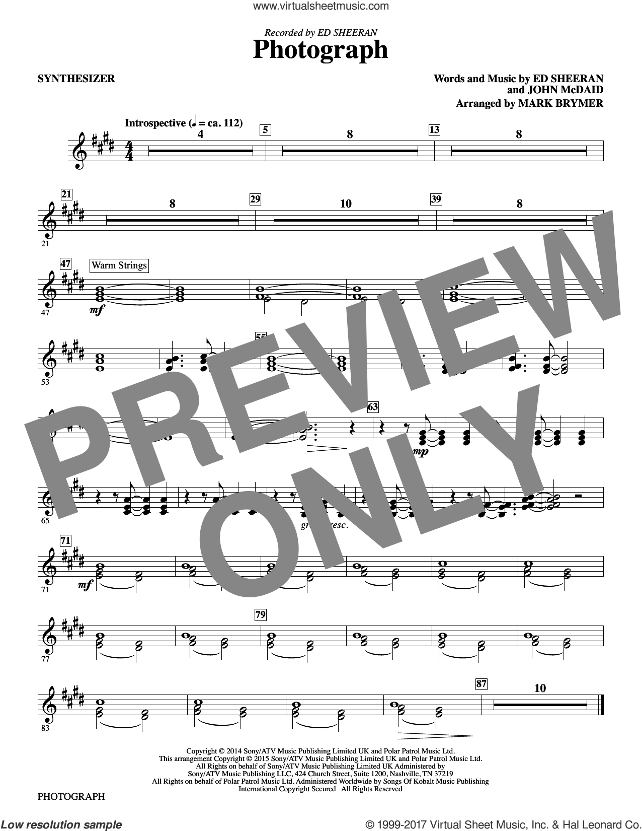 Brymer Photograph Complete Set Of Parts Sheet Music For Orchestraband