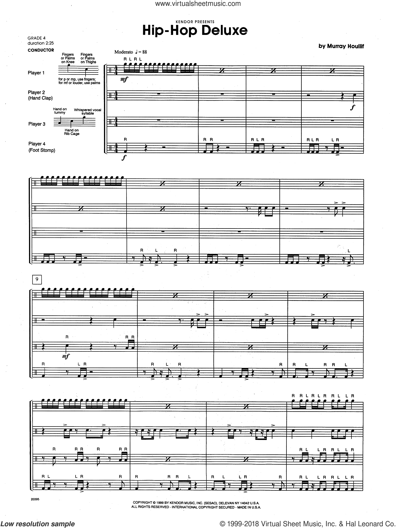 Hip-Hop Deluxe (COMPLETE) sheet music for percussions by Houllif, intermediate. Score Image Preview.