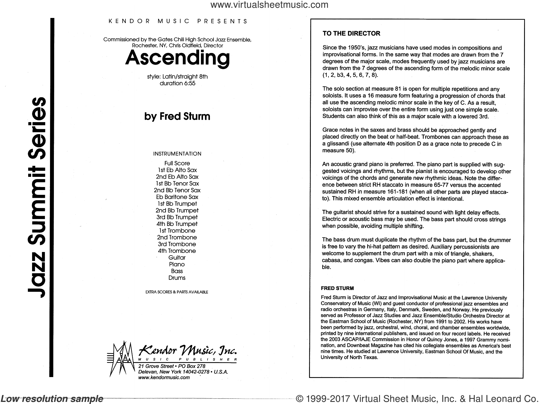 Sturm - Ascending sheet music (complete collection) for jazz band