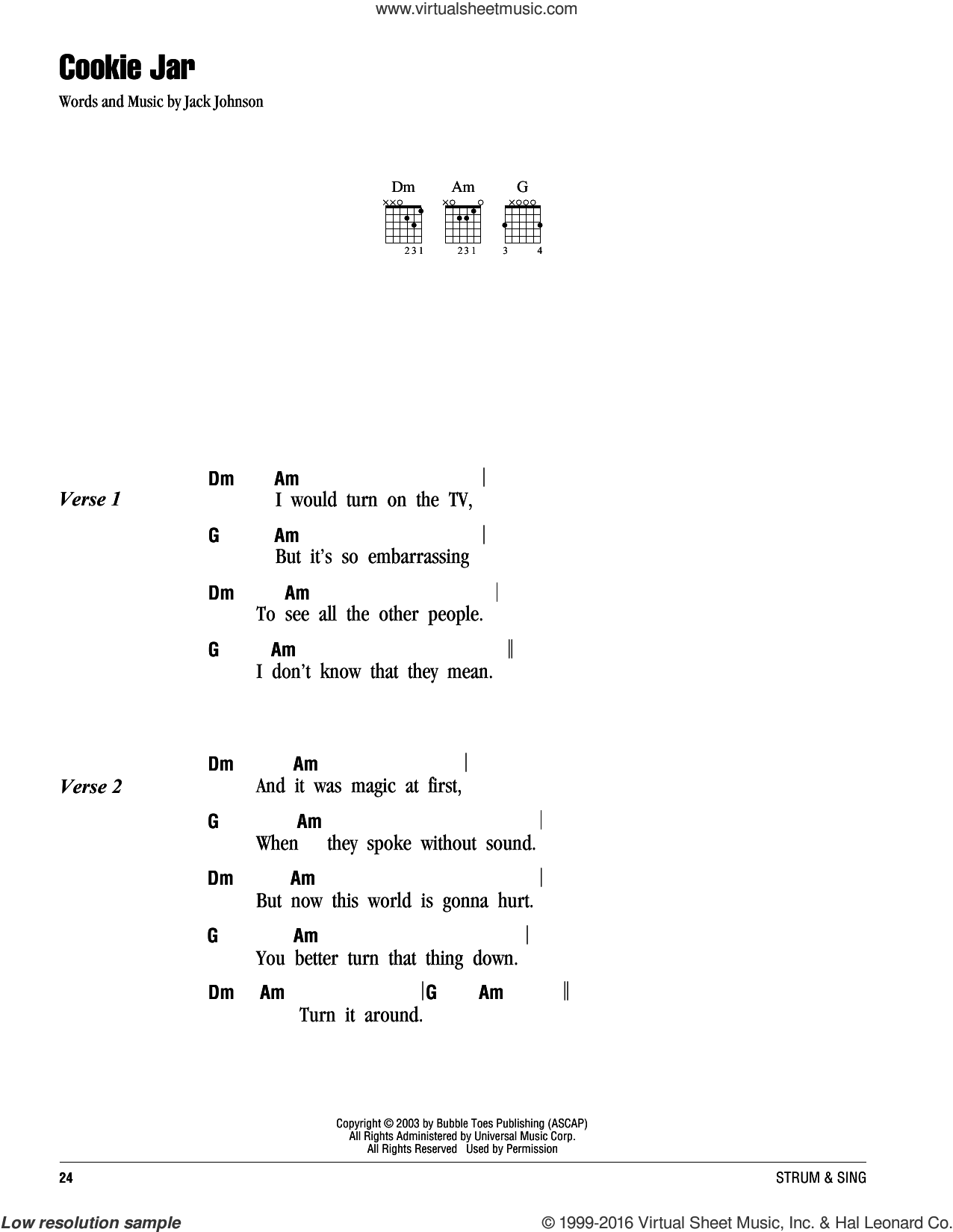 Johnson Cookie Jar Sheet Music For Guitar Chords Pdf