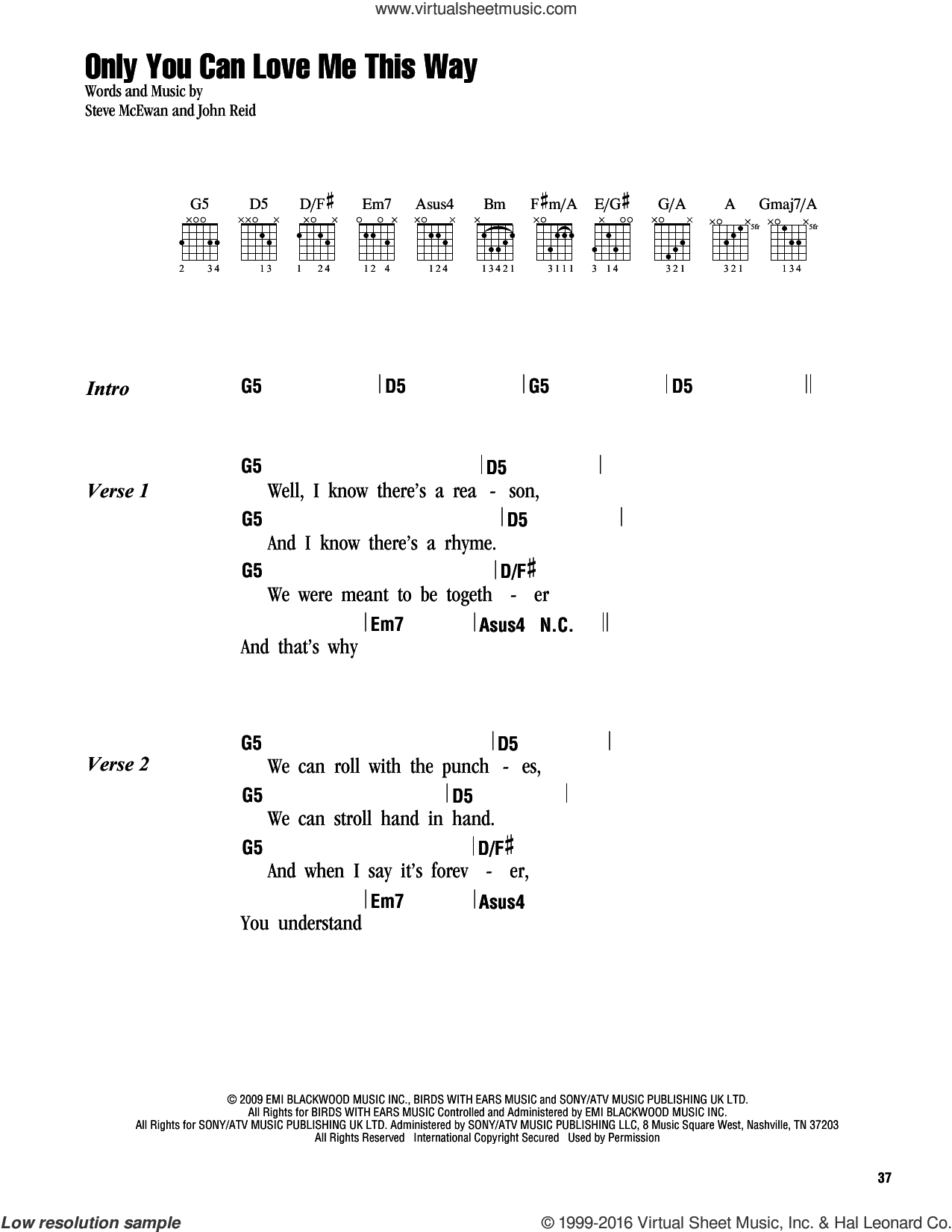 Only you guitar chords image collections guitar chords examples urban only you can love me this way sheet music for guitar chords only you can hexwebz Images