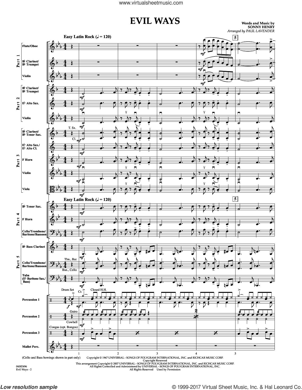 Santana - Evil Ways (Flex-Band) sheet music (complete collection) for  concert band