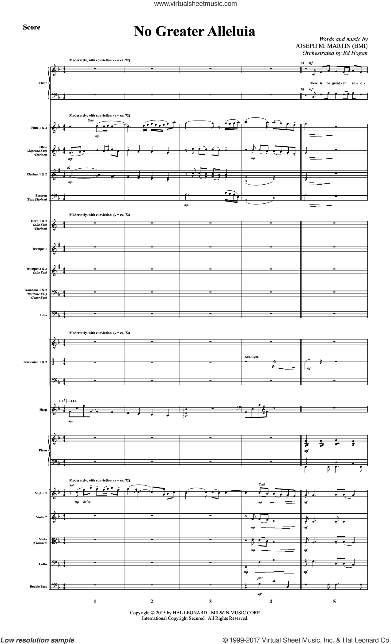 No Greater Alleluia (COMPLETE) sheet music for orchestra/band by Joseph M. Martin, intermediate skill level