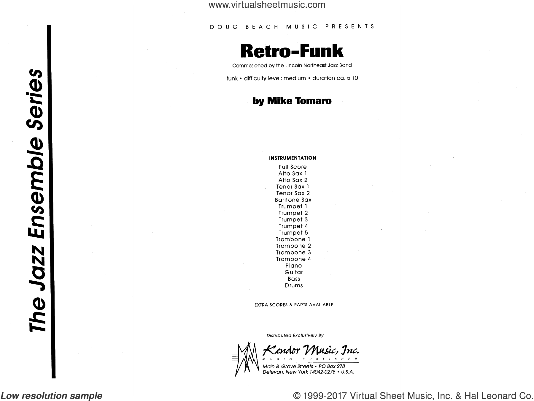Retro-Funk (COMPLETE) sheet music for jazz band by Mike Tomaro, intermediate skill level
