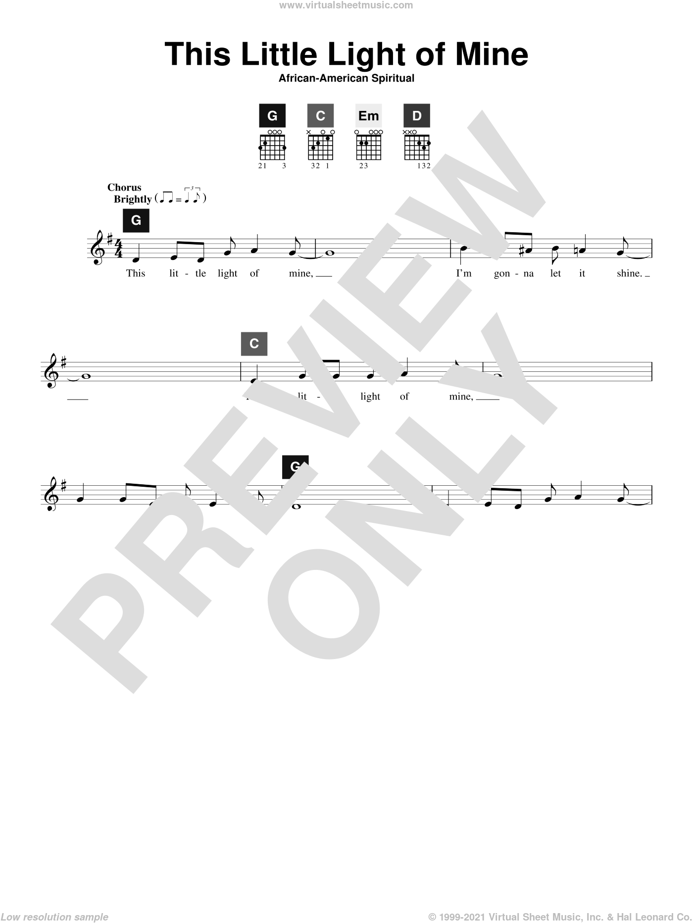 This Little Light Of Mine sheet music for guitar solo (ChordBuddy system)  and Travis Perry, intermediate guitar (ChordBuddy system). Score Image Preview.