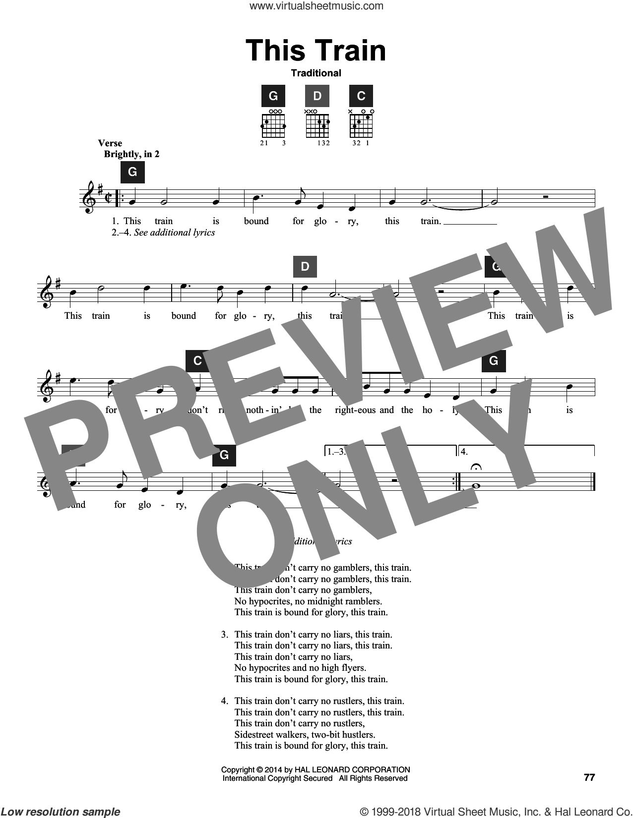 This Train sheet music for guitar solo (ChordBuddy system). Score Image Preview.