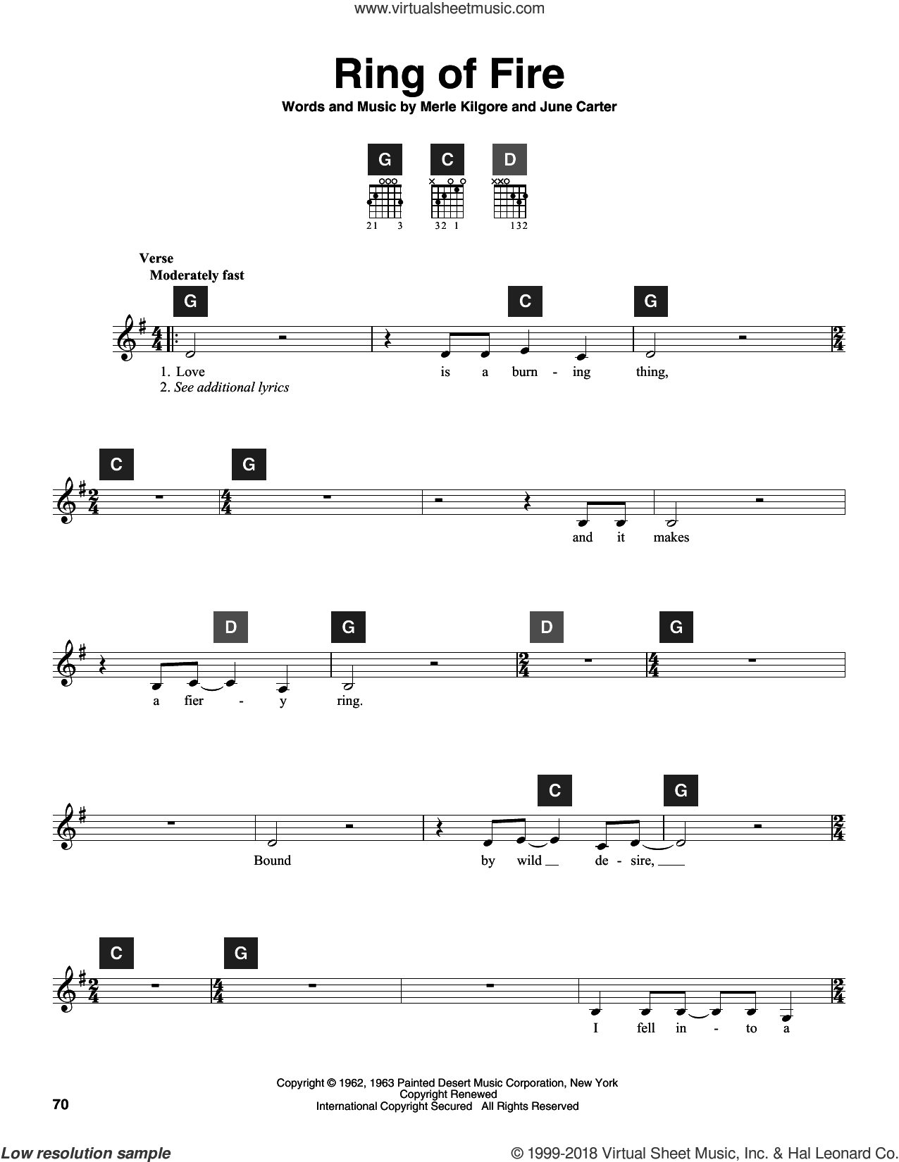 Ring Of Fire sheet music for guitar solo (ChordBuddy system) by Johnny Cash, Alan Jackson, Travis Perry, June Carter and Merle Kilgore, intermediate guitar (ChordBuddy system)