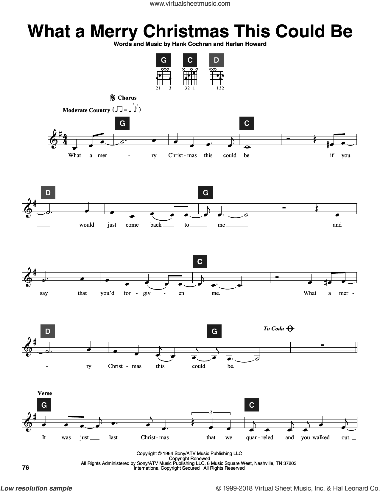 What A Merry Christmas This Could Be sheet music for guitar solo (ChordBuddy system) by Hank Cochran, George Strait and Harlan Howard. Score Image Preview.