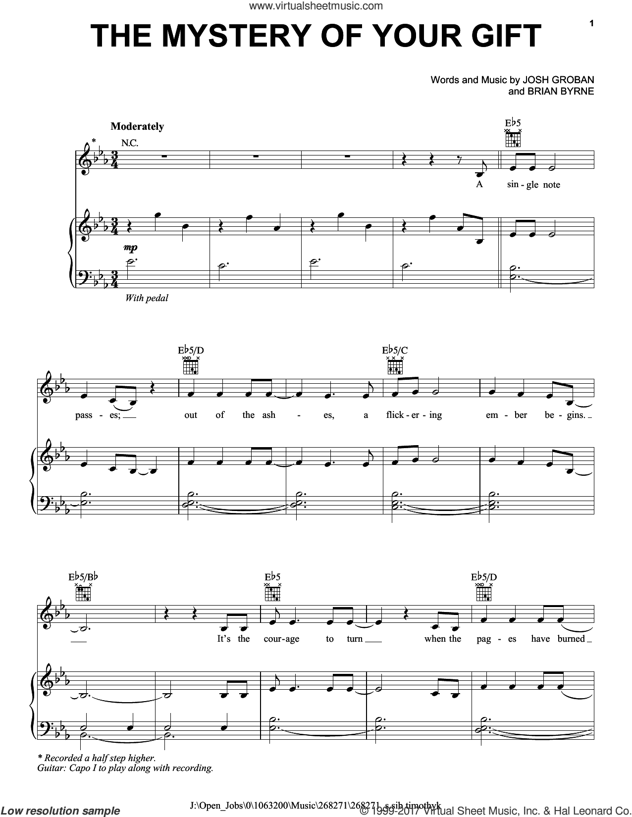 josh groban sheet music pdf