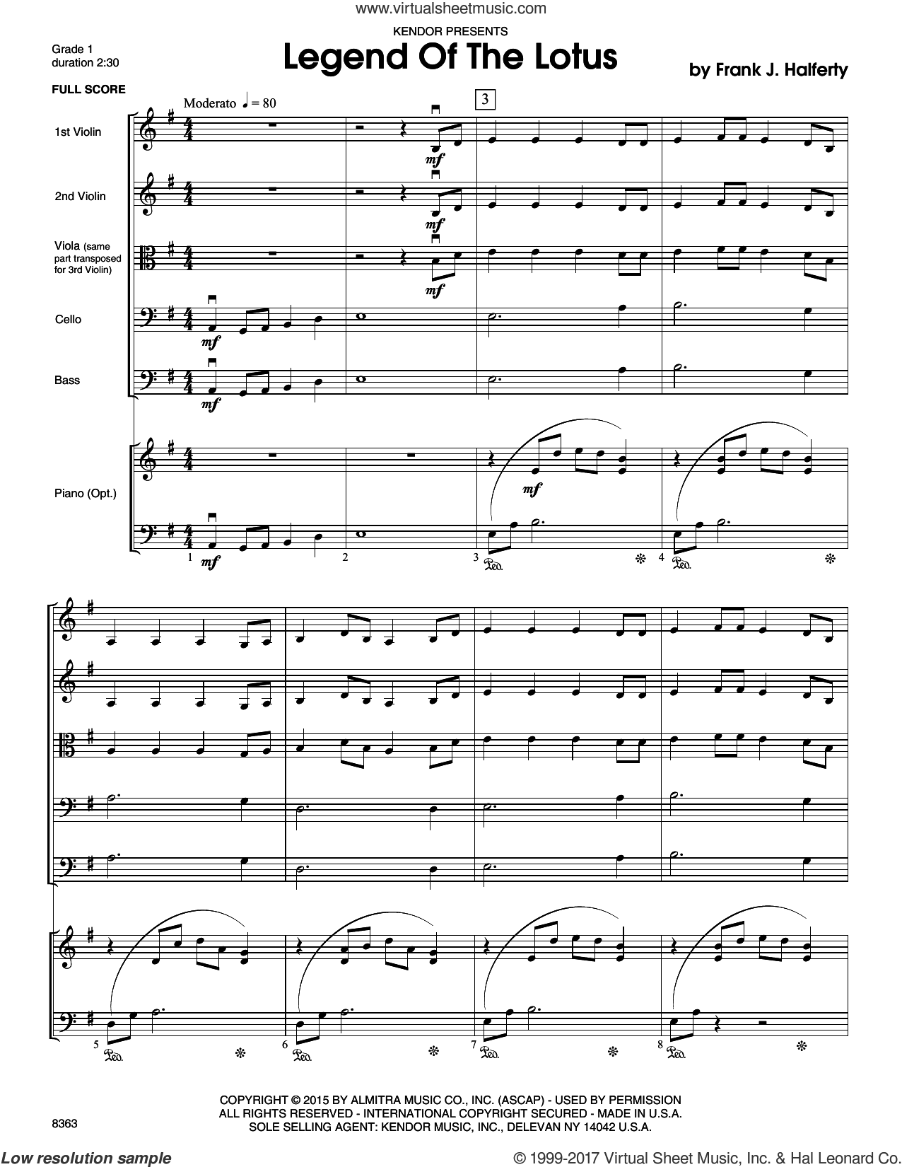 Legend Of The Lotus (COMPLETE) sheet music for orchestra by Frank J. Halferty, intermediate. Score Image Preview.
