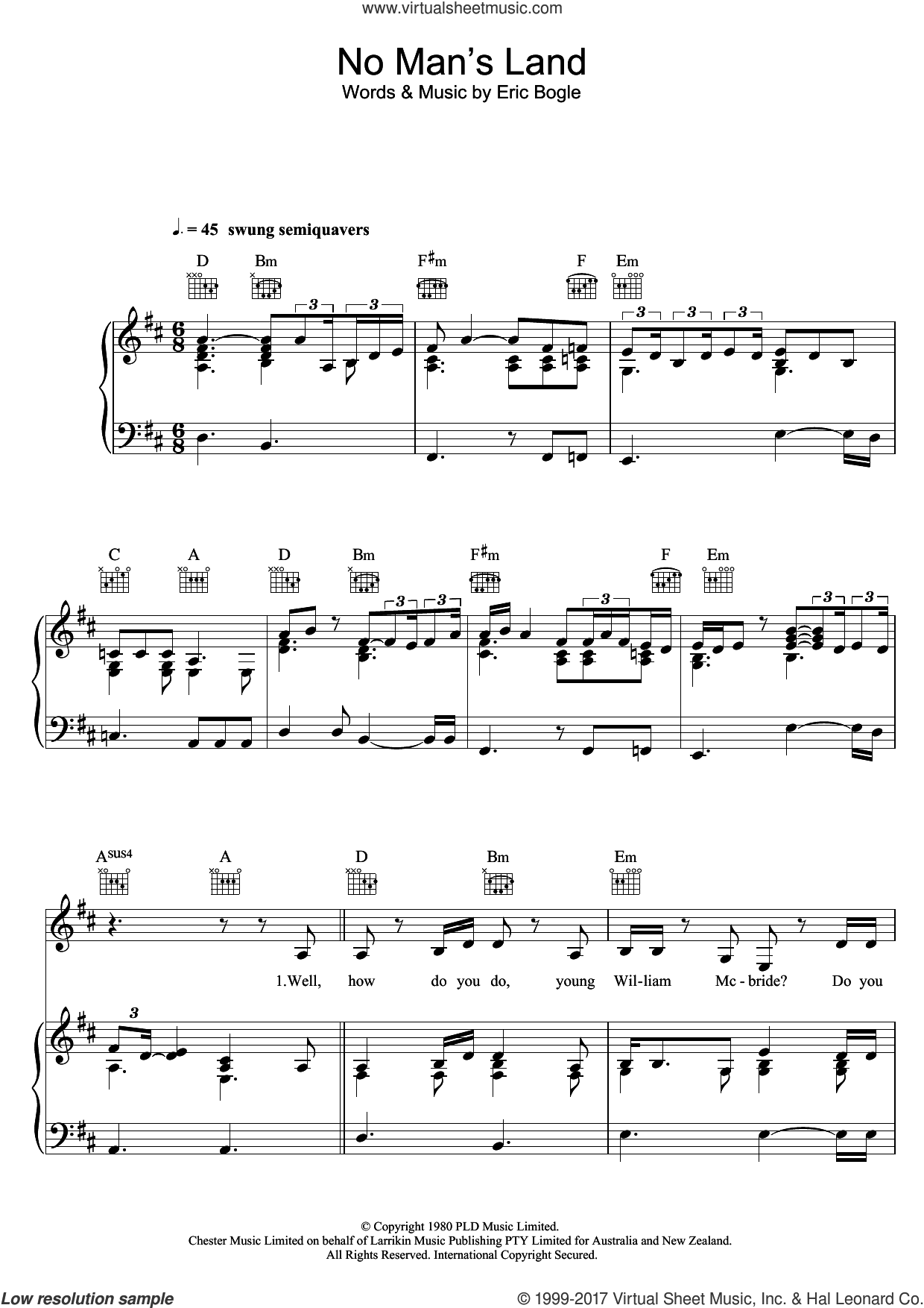 No Man's Land / The Green Fields Of France (feat. Jeff Beck) sheet music for voice, piano or guitar by Joss Stone, Jeff Beck and Eric Bogle, intermediate skill level