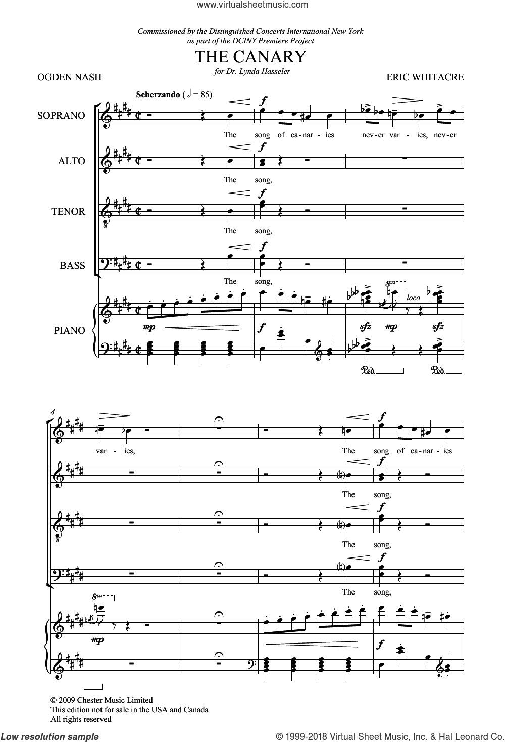 Animal Crackers, Volume 2 sheet music for choir and piano by Ogden Nash and Eric Whitacre. Score Image Preview.