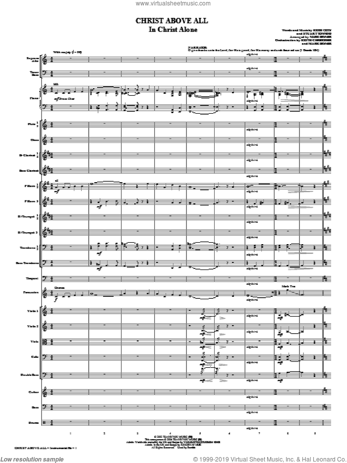 Christ Above All (COMPLETE) sheet music for orchestra/band (Orchestra) by Mark Brymer, intermediate. Score Image Preview.
