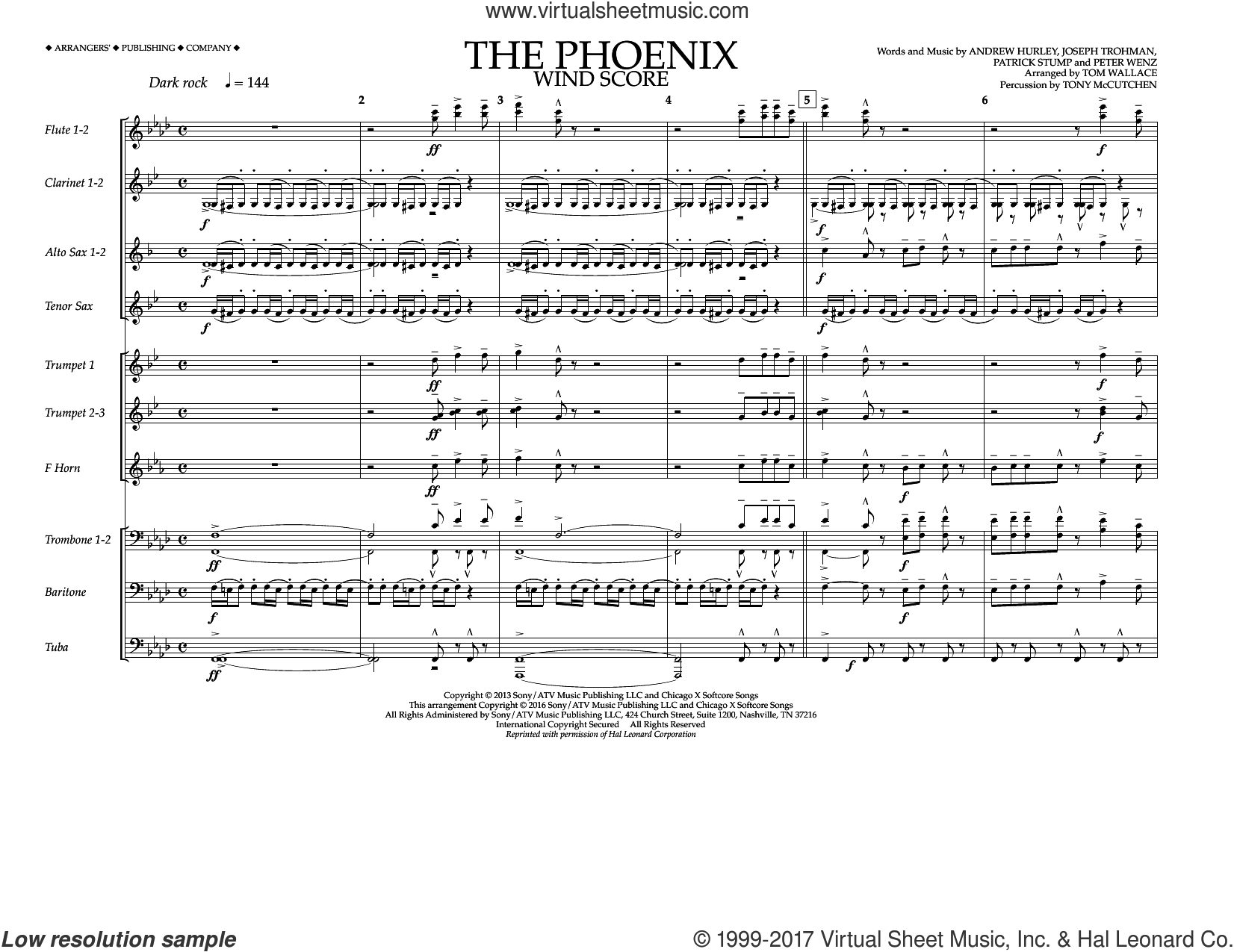 Boy - The Phoenix sheet music (complete collection) for marching band