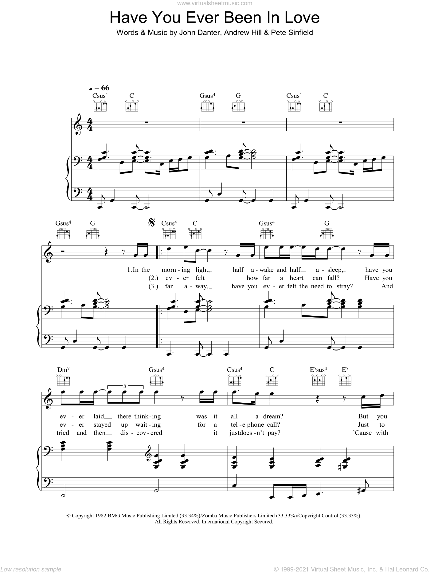 Have You Ever Been In Love sheet music for voice, piano or guitar by Andrew Hill, Westlife and Pete Sinfield. Score Image Preview.