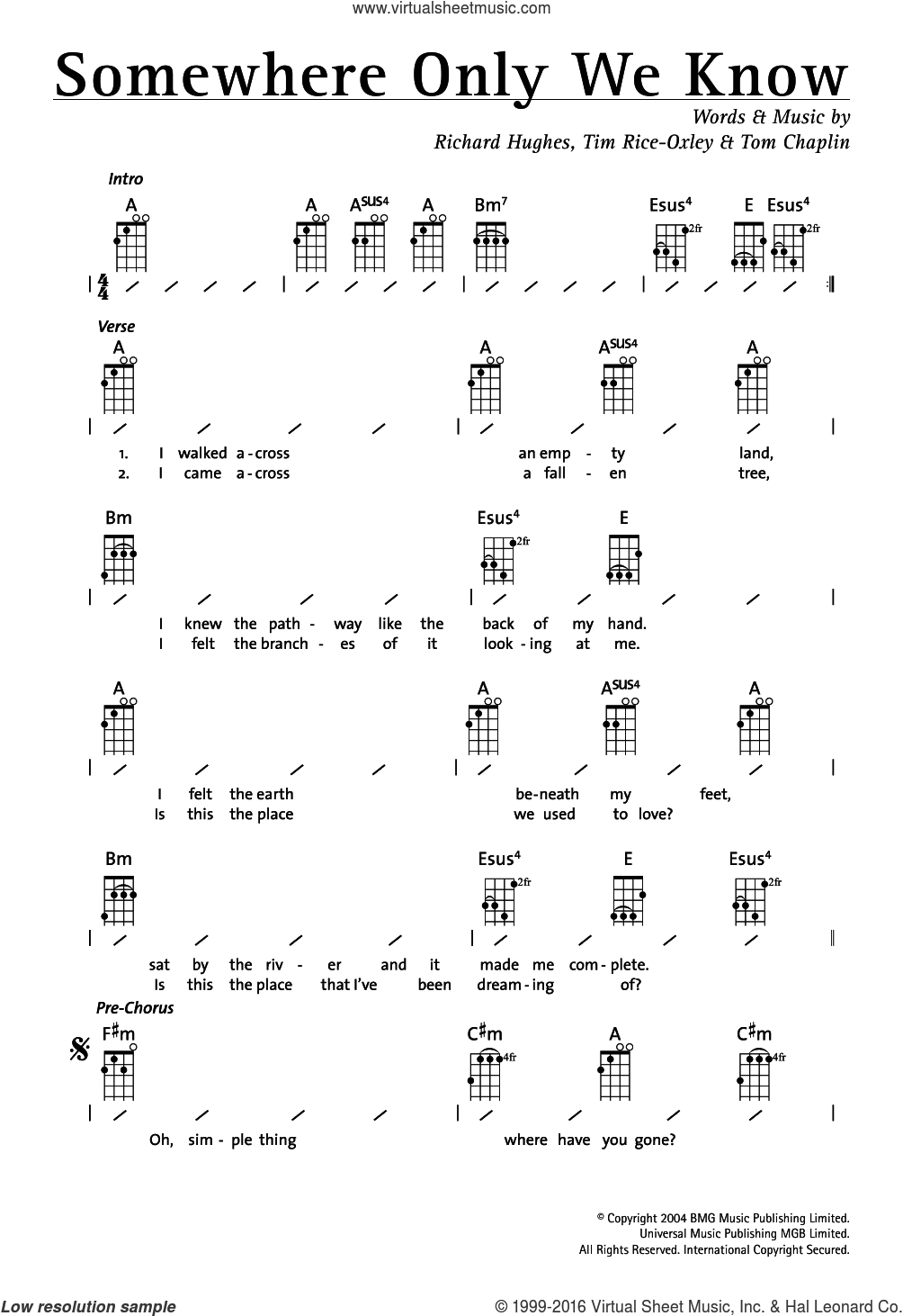 Rice oxley somewhere only we know sheet music for ukulele chords somewhere only we know sheet music for ukulele chords by tim rice oxley hexwebz Images
