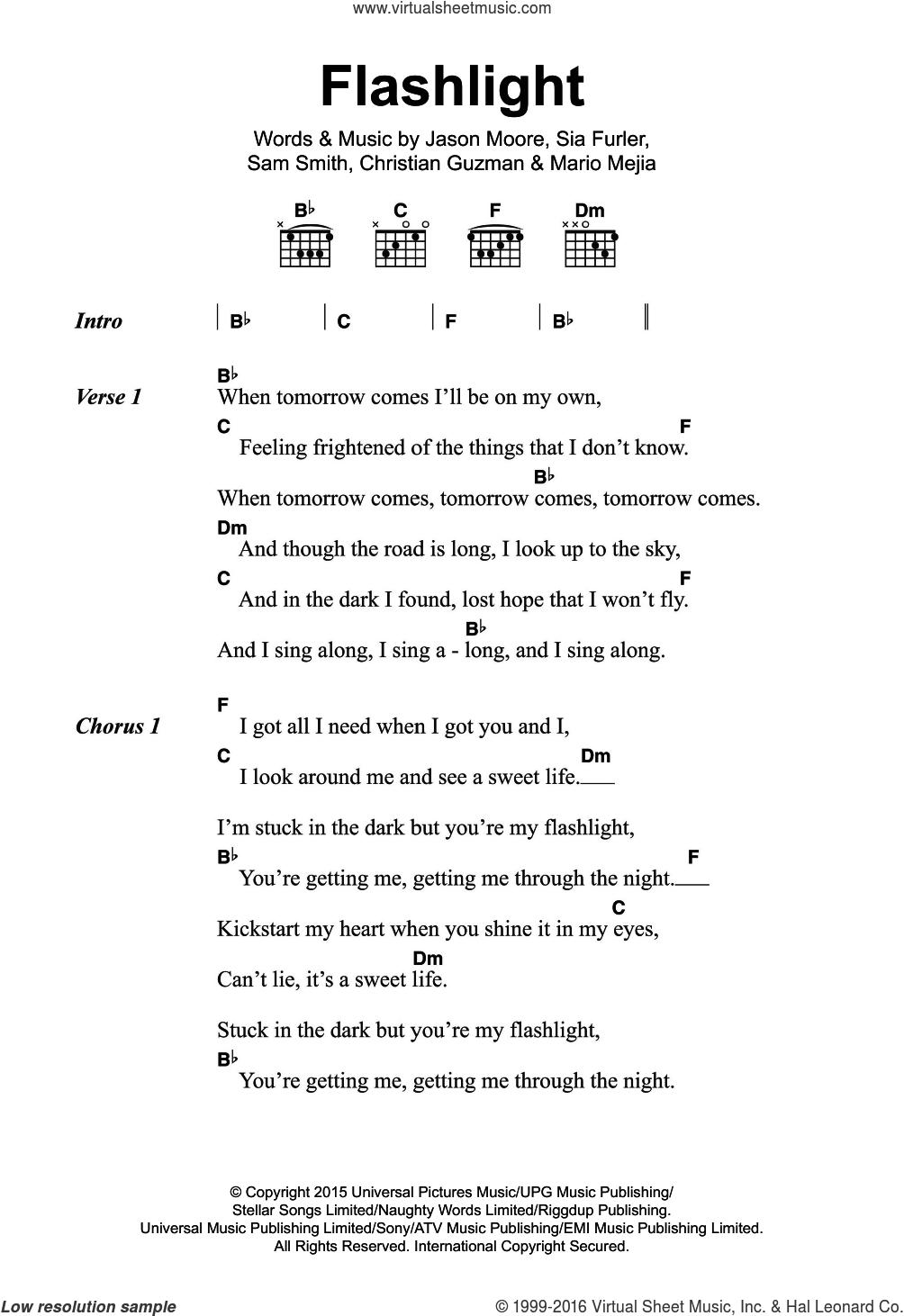 J Flashlight Sheet Music For Guitar Chords Pdf