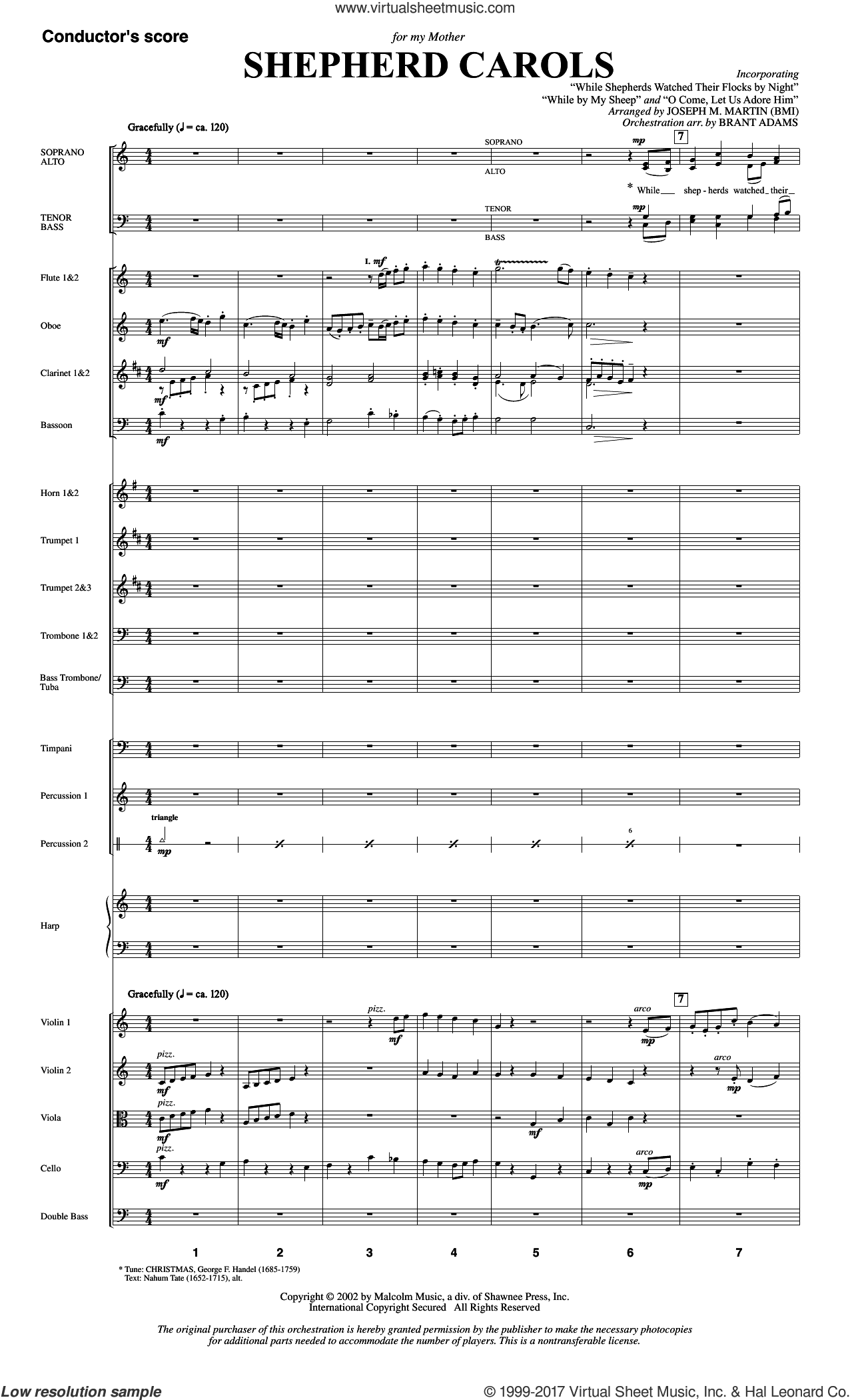 Shepherd Carols (COMPLETE) sheet music for orchestra/band by Joseph M. Martin, intermediate skill level