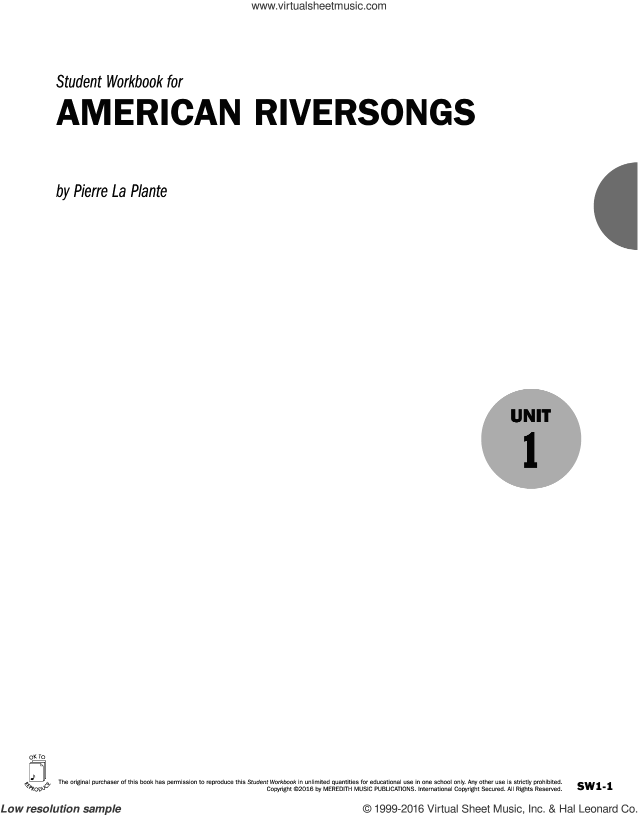 Guides to Band Masterworks, Vol. 6 - Student Workbook - American Riversongs sheet music for for flute or other instruments by Pierre La Plante. Score Image Preview.