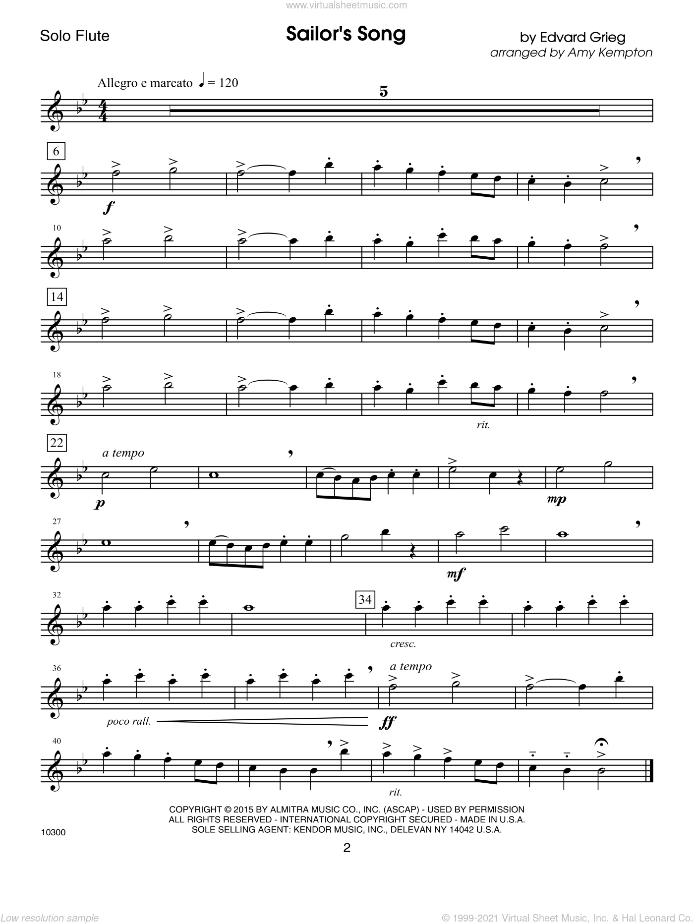 Kendor Debut Solos - Flute sheet music for flute solo by Kempton. Score Image Preview.