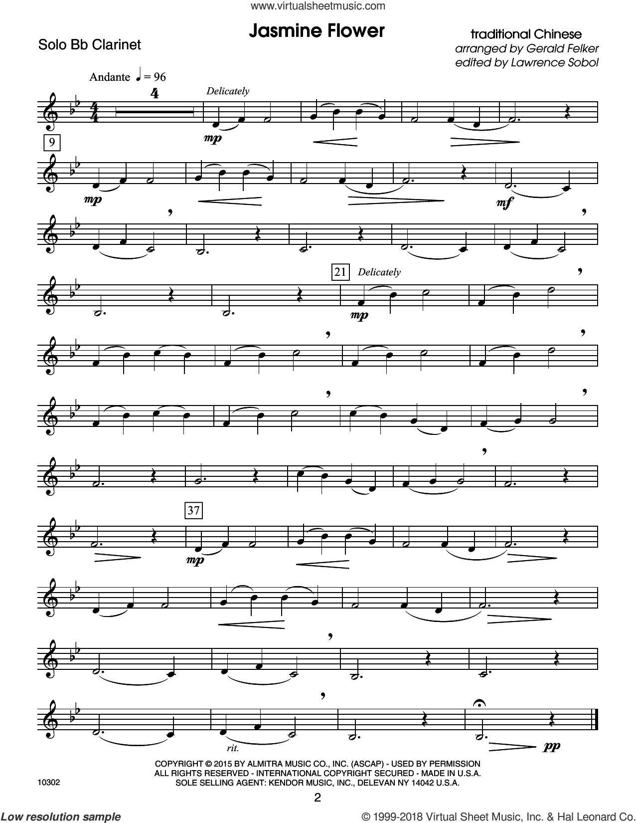 Kendor Debut Solos - Bb Clarinet sheet music for clarinet solo by Sobol. Score Image Preview.