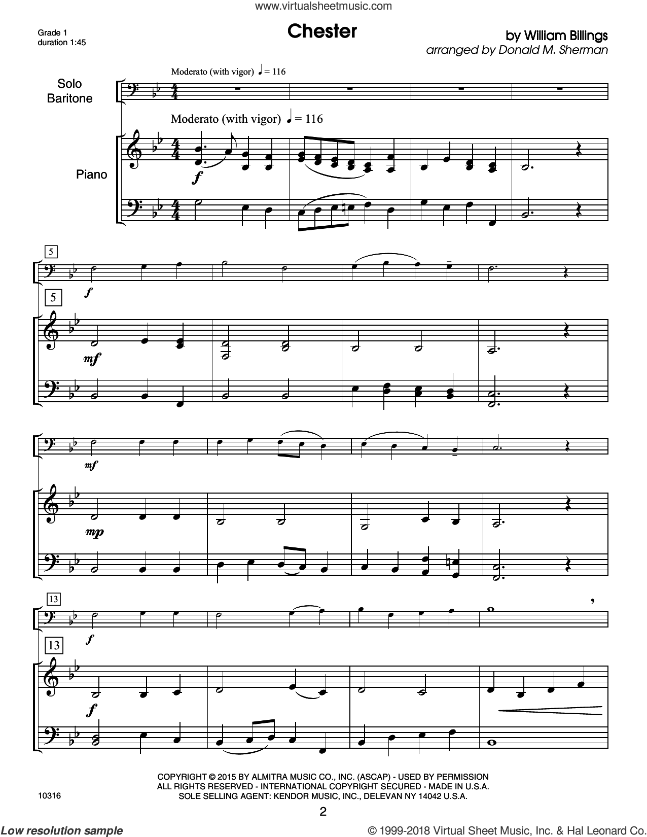 Kendor Debut Solos - Baritone T.C. and B.C. - Piano Accompaniment sheet music for baritone and piano by Donald M. Sherman and Miscellaneous, intermediate skill level