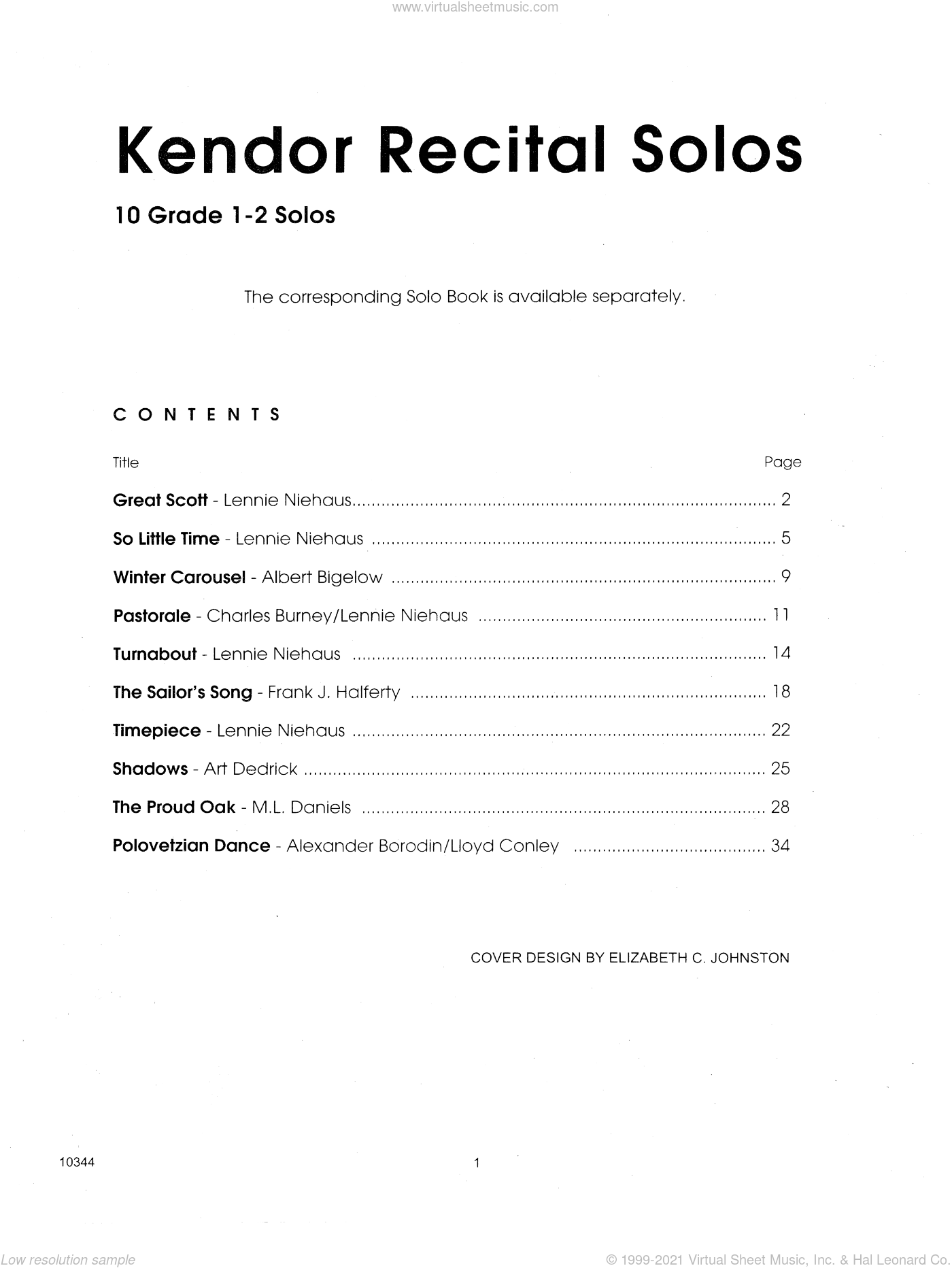 Kendor Recital Solos - Trombone - Piano Accompaniment sheet music for trombone and piano. Score Image Preview.