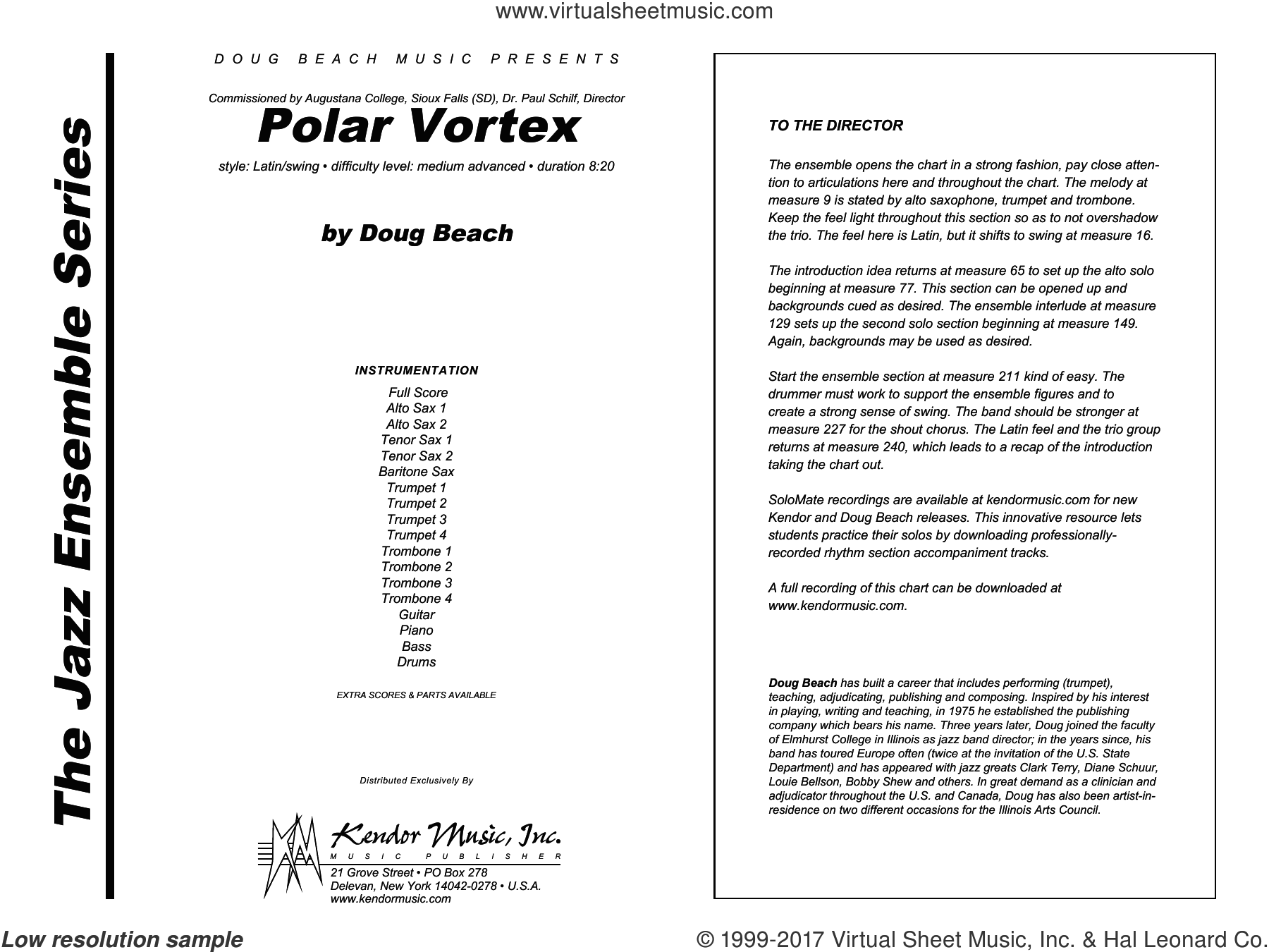 Polar Vortex (COMPLETE) sheet music for jazz band by Doug Beach, intermediate skill level