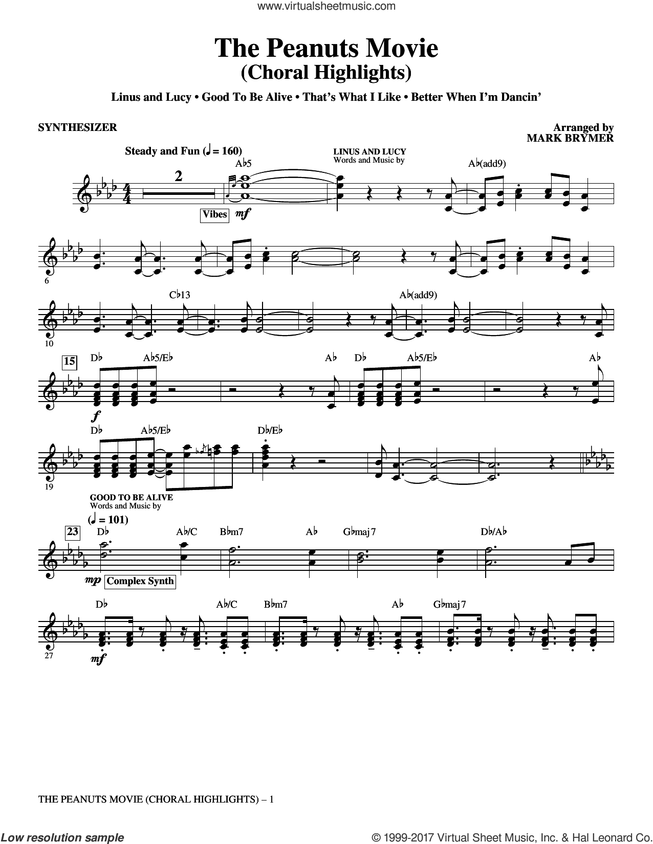 The Peanuts Movie (complete set of parts) sheet music for orchestra/band by Mark Brymer, Meghan Trainor and Thaddeus Dixon, intermediate skill level