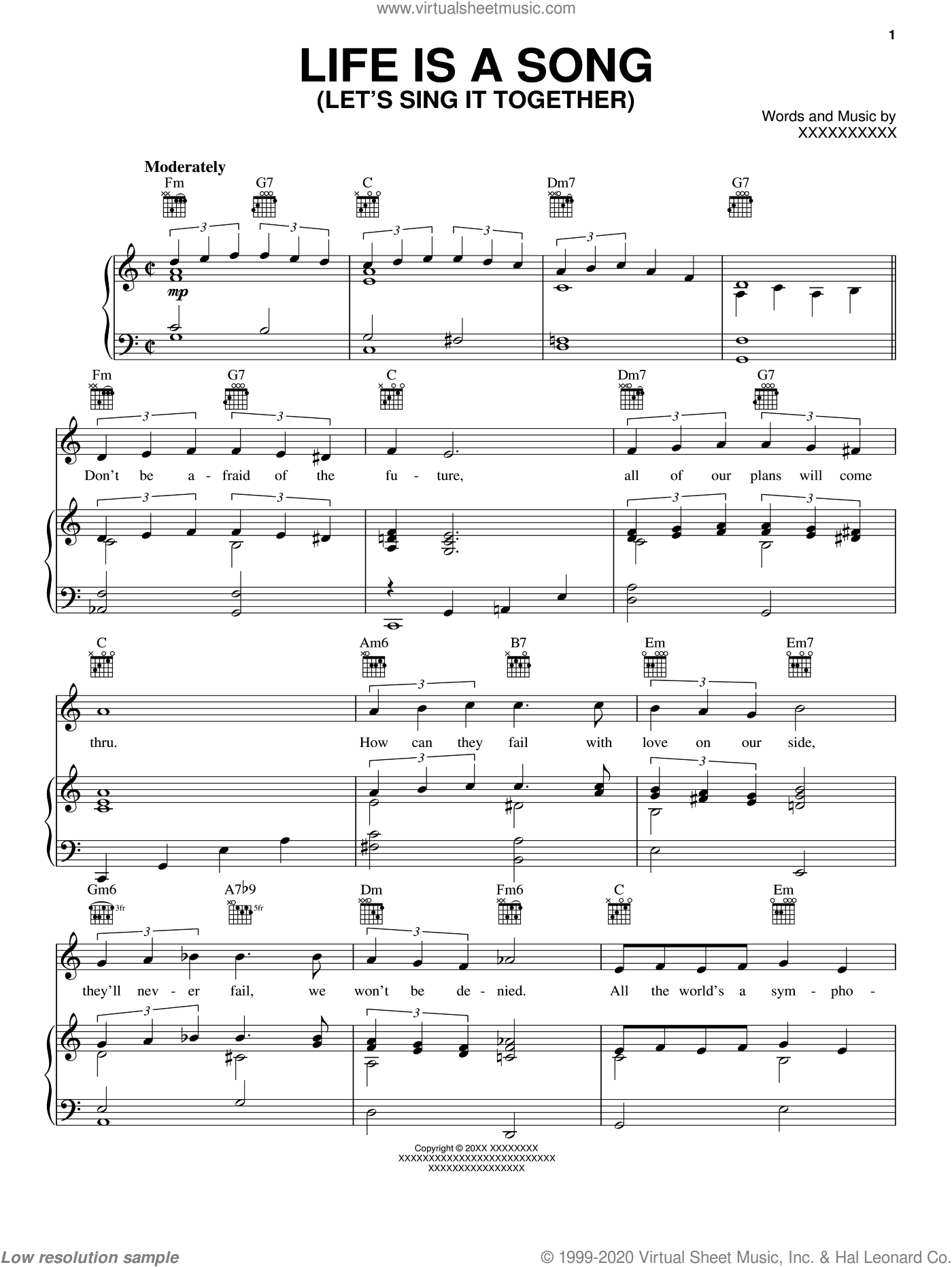 Life Is A Song (Let's Sing It Together) sheet music for voice, piano or guitar by Joe Young and Fred Ahlert, intermediate skill level