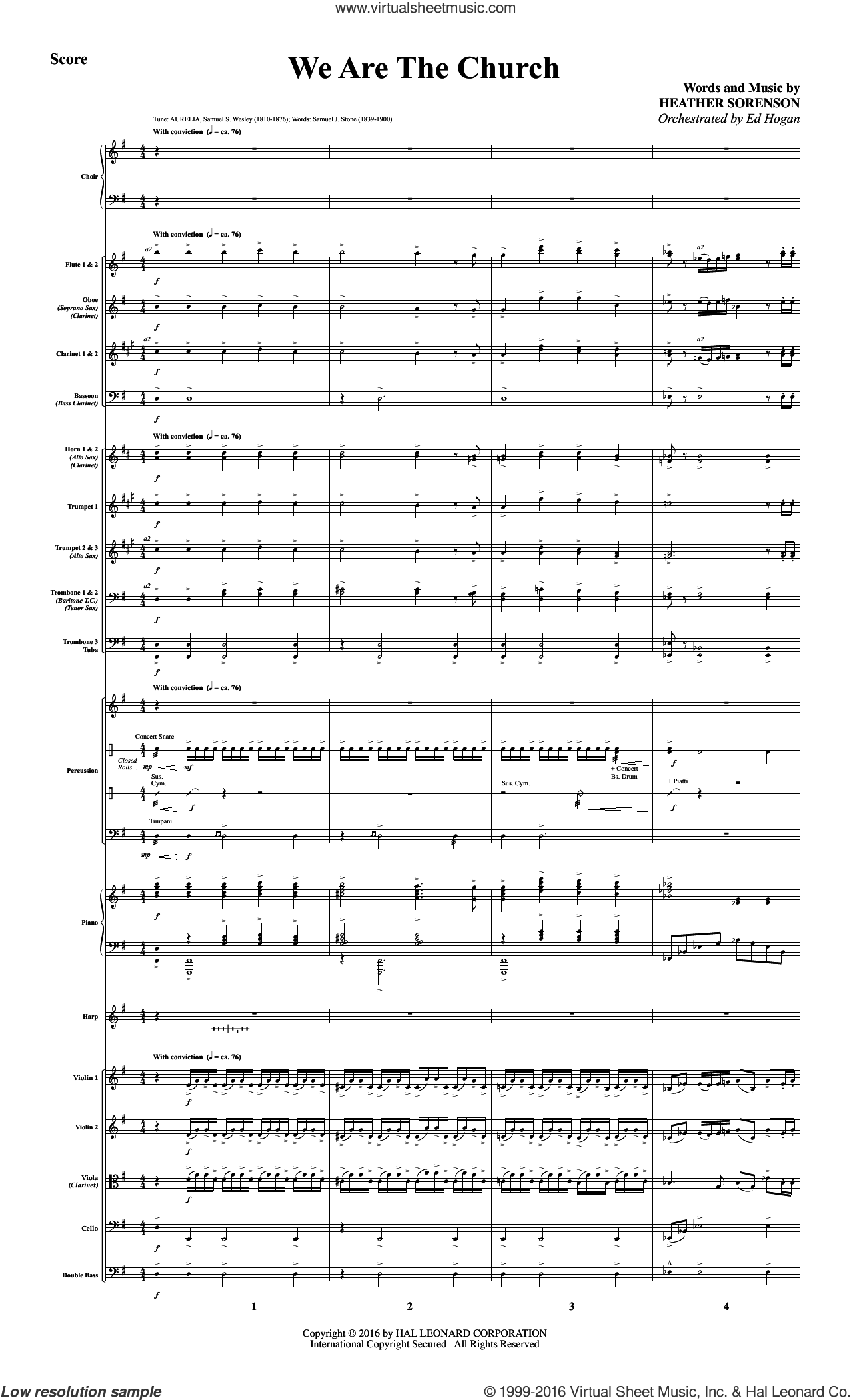 We Are the Church (COMPLETE) sheet music for orchestra by Heather Sorenson. Score Image Preview.