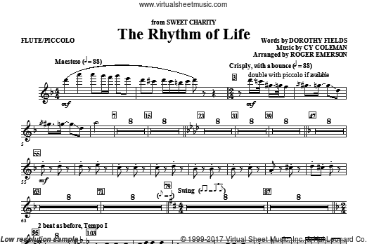 The Rhythm Of Life (COMPLETE) sheet music for orchestra by Cy Coleman