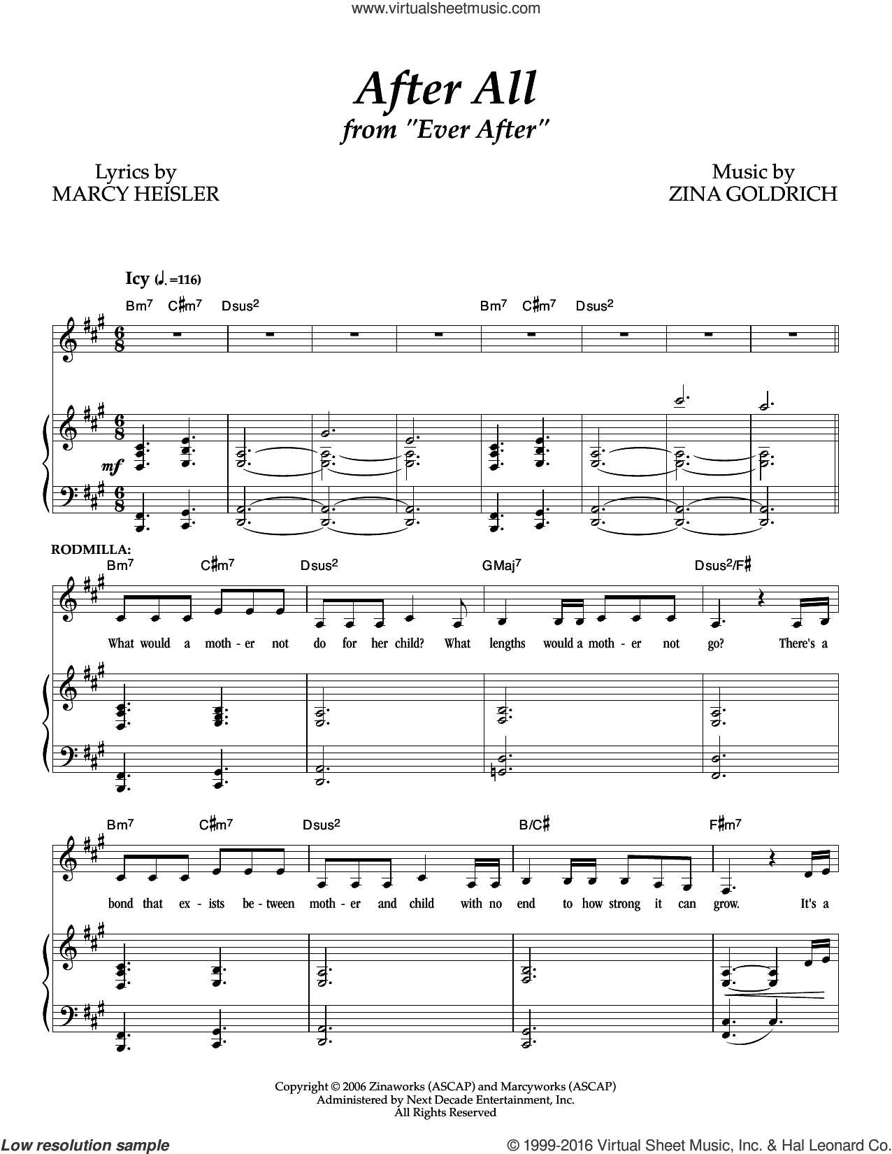 After All sheet music for voice and piano by Goldrich & Heisler. Score Image Preview.
