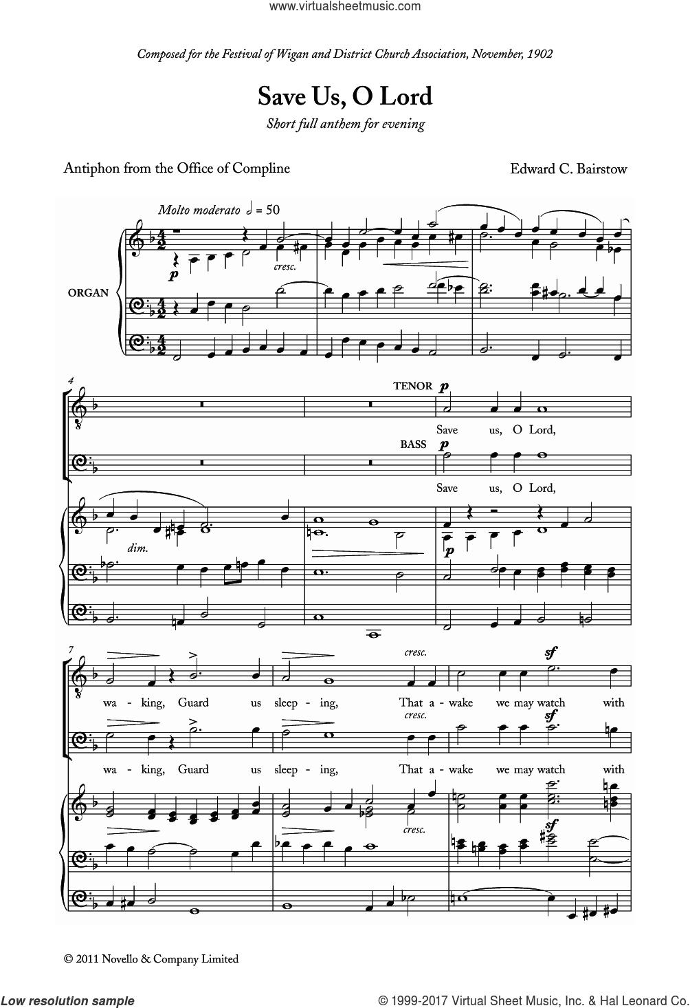 bairstow save us o lord sheet music for choir pdf