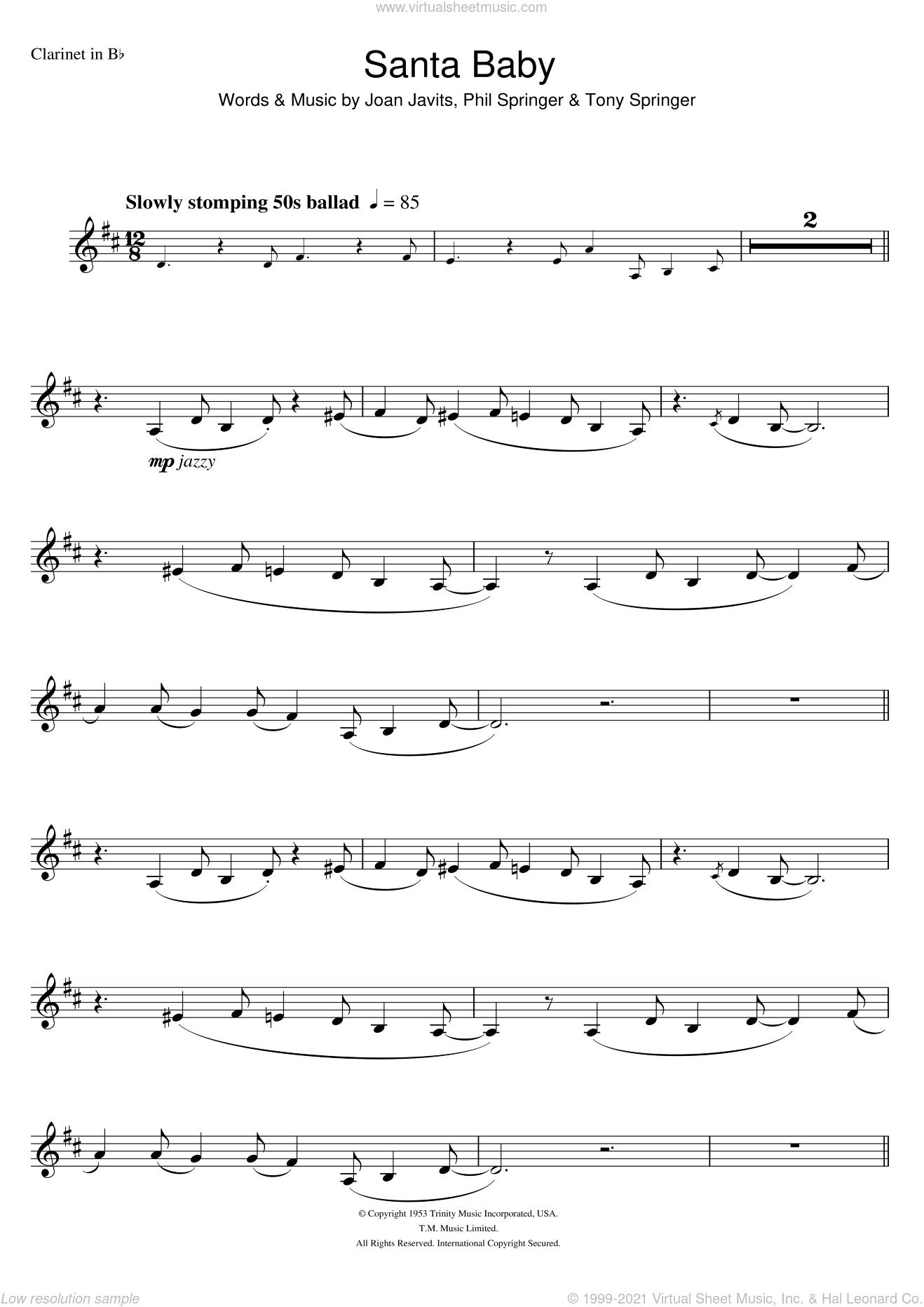 Kitt - Santa Baby sheet music for