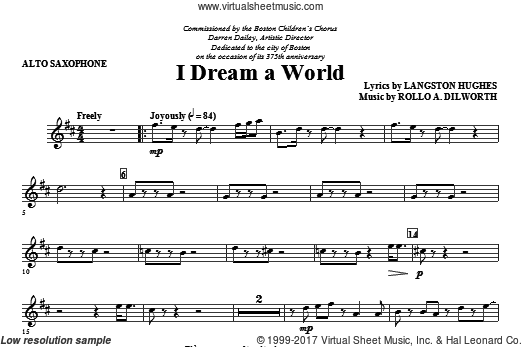 I Dream A World (from Trilogy Of Dreams) (COMPLETE) sheet music for orchestra by Rollo Dilworth