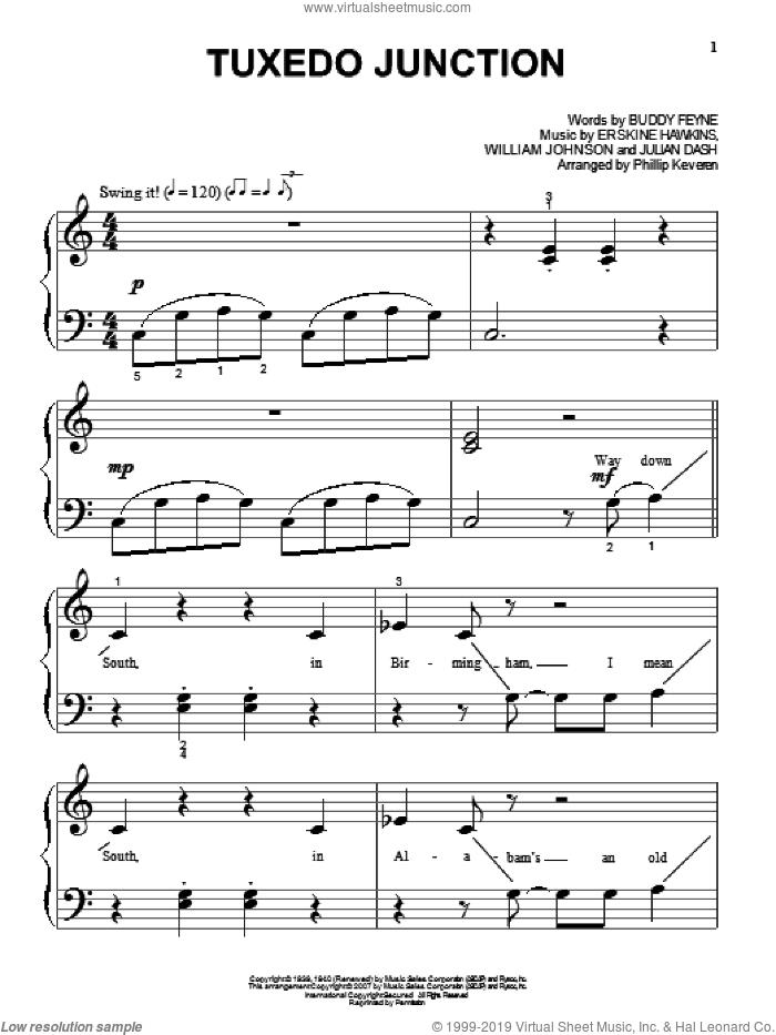 Tuxedo Junction sheet music for piano solo (big note book) by Glenn Miller, Phillip Keveren, Buddy Feyne, Erskine Hawkins, Julian Dash and William Johnson, easy piano (big note book)