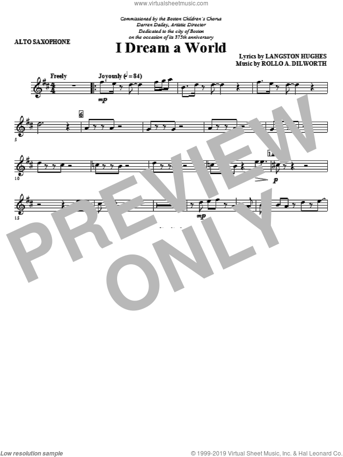 I Dream A World (from Trilogy Of Dreams) (complete set of parts) sheet music for orchestra/band (Strings) by Rollo Dilworth and Langston Hughes, intermediate skill level