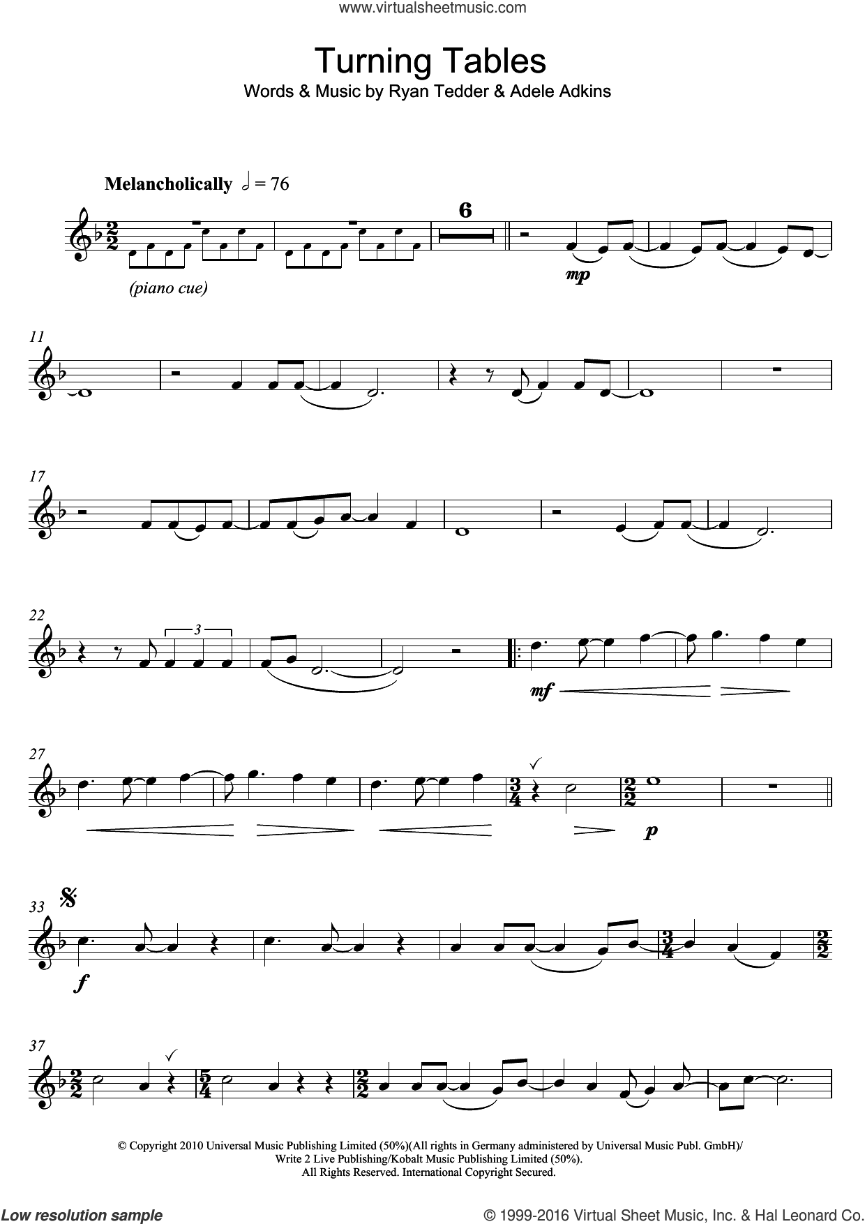 turning tables sheet music pdf