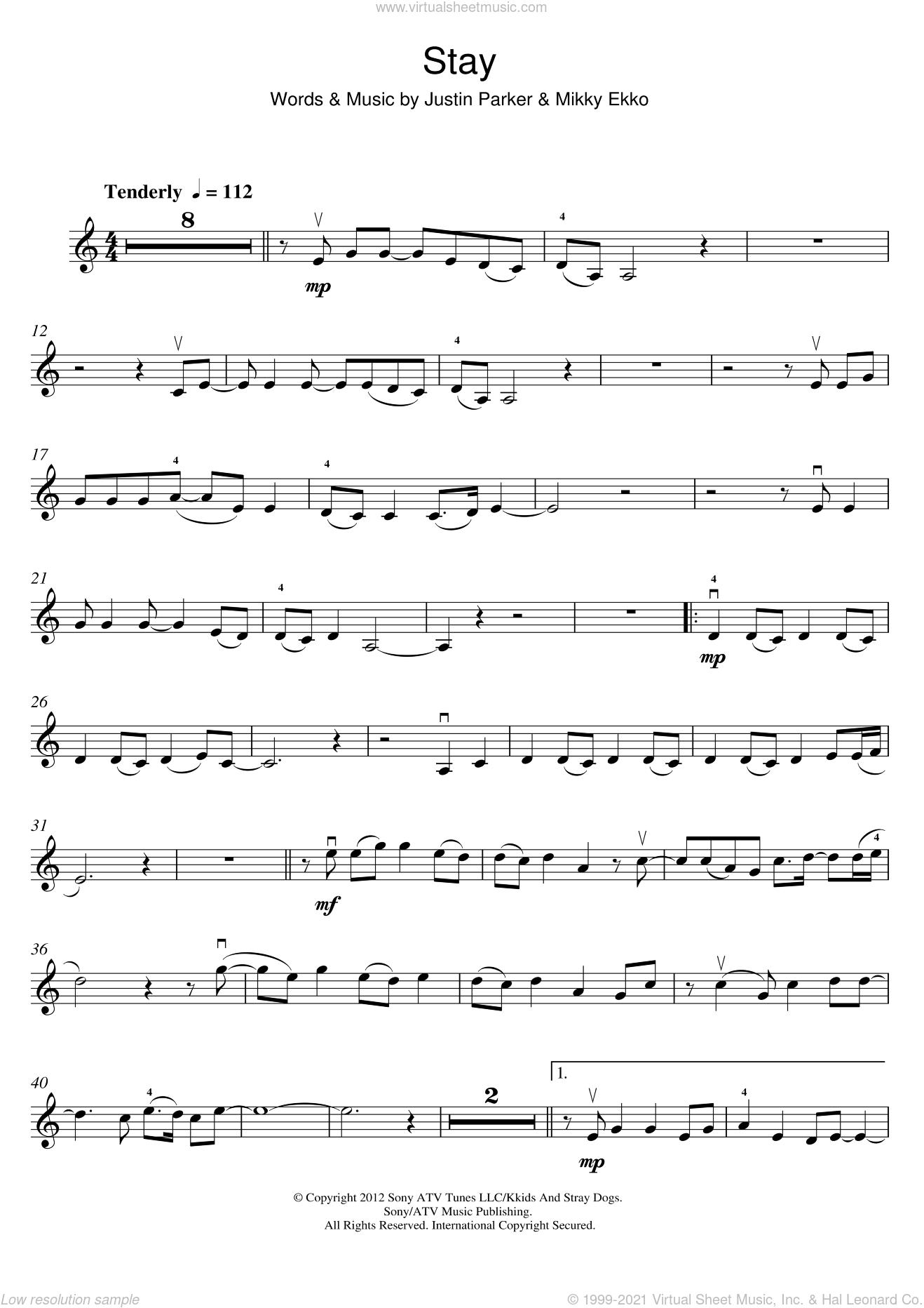 partitura stay rihanna piano pdf