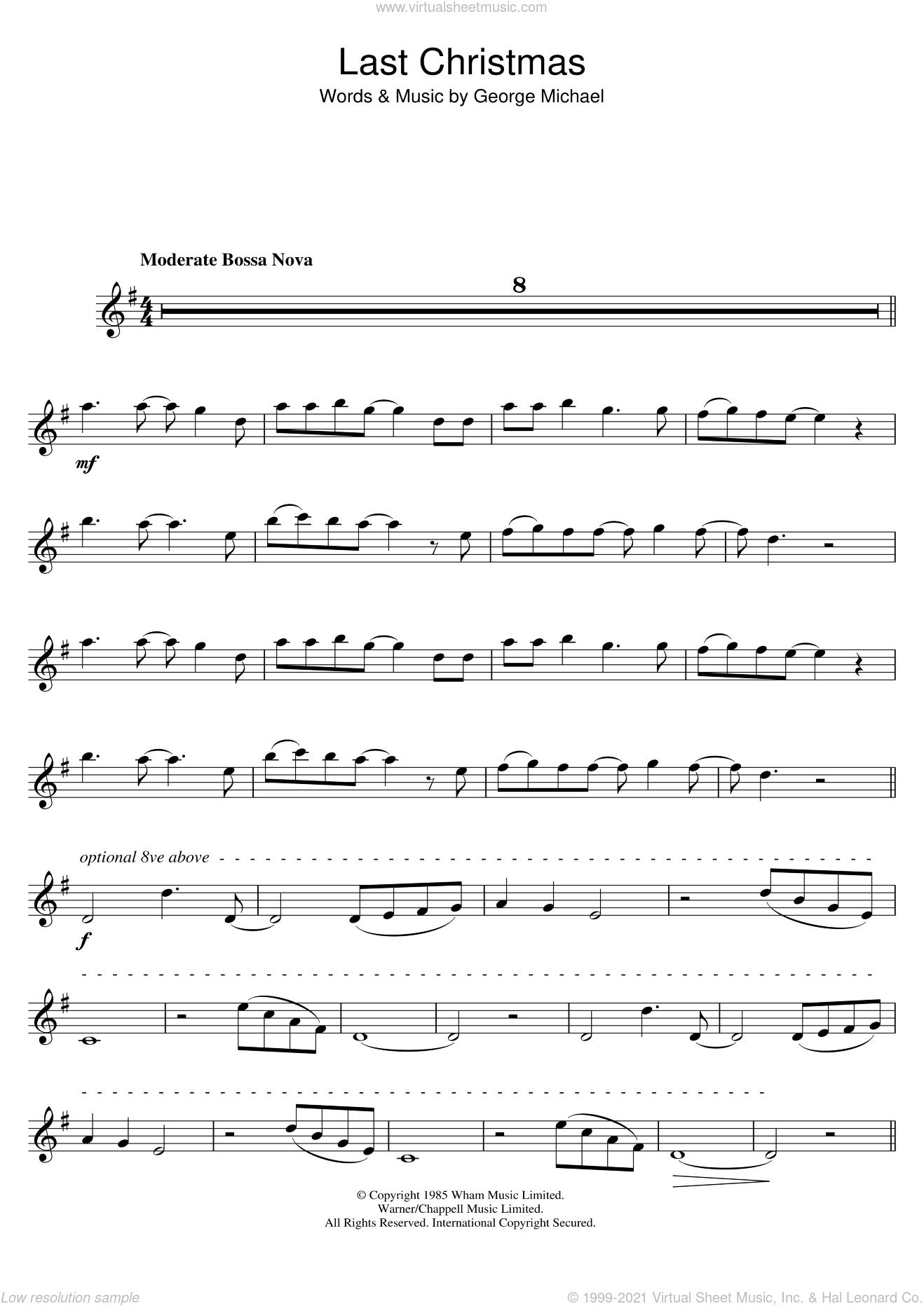 Last Christmas Chords.Wham Last Christmas Sheet Music For Tenor Saxophone Solo Pdf