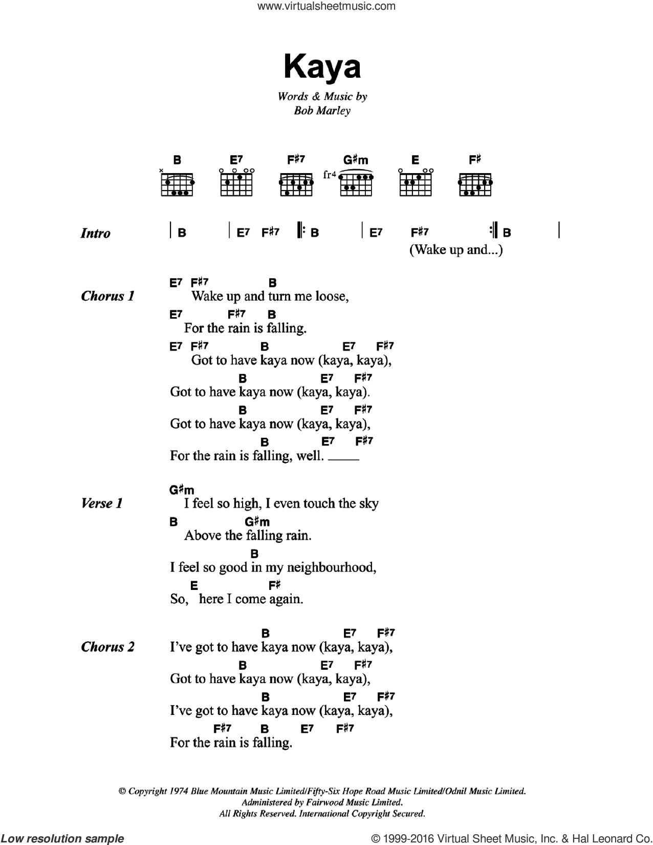 Marley Kaya Sheet Music For Guitar Chords Pdf