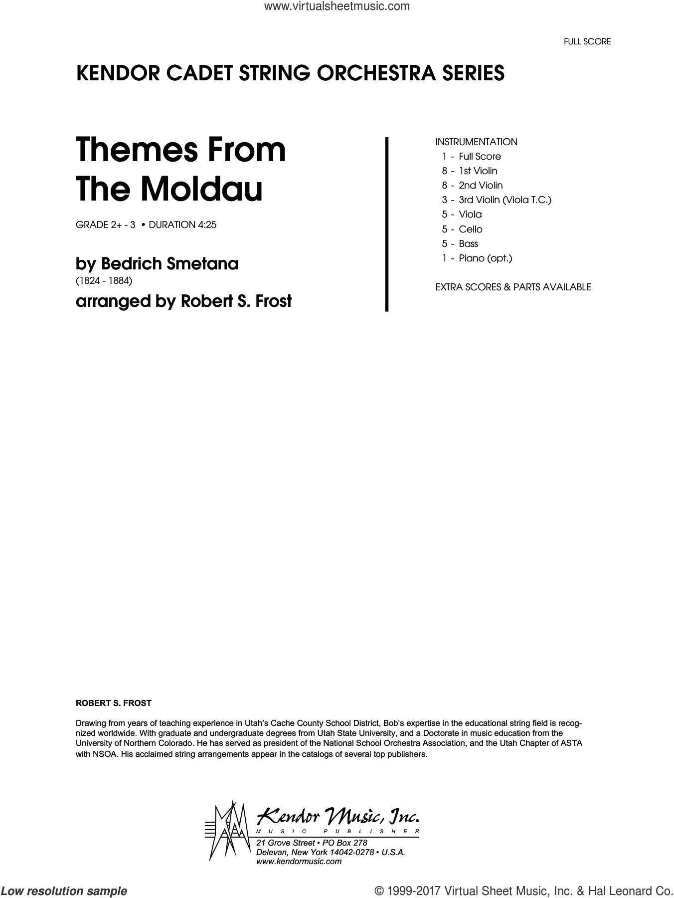 Themes From The Moldau (COMPLETE) sheet music for orchestra by Robert S. Frost and Smetana, intermediate skill level