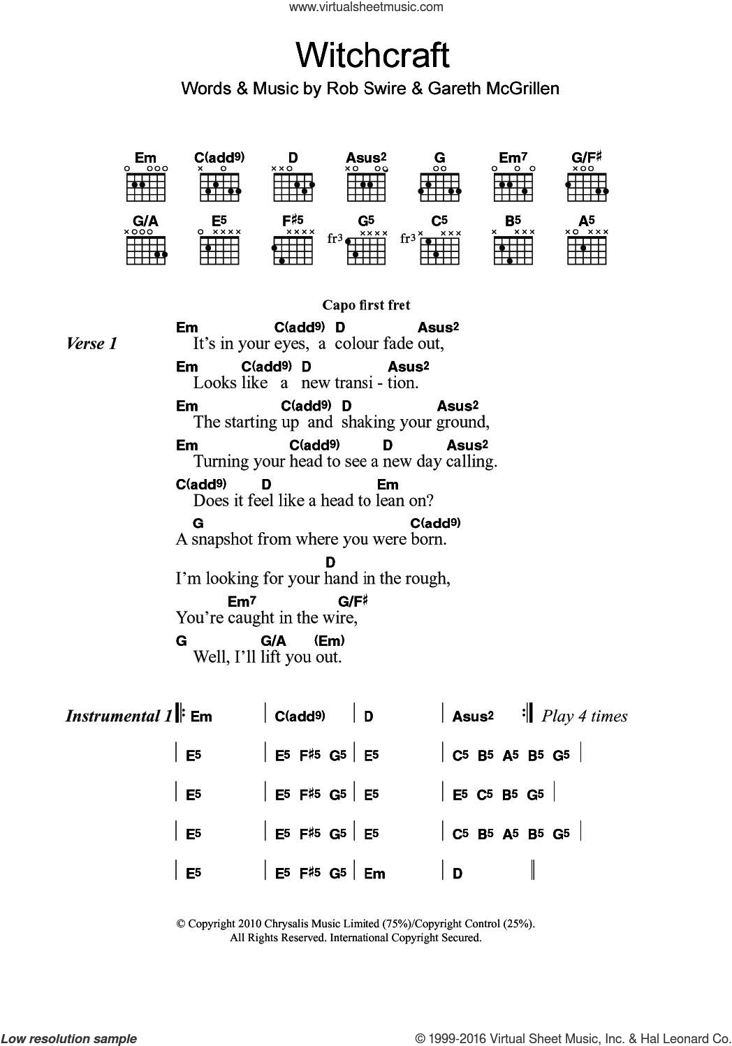 Pendulum Witchcraft Sheet Music For Guitar Chords Pdf
