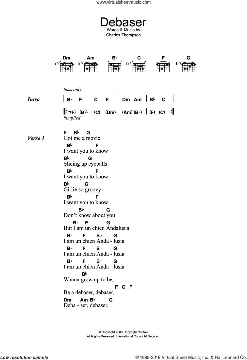 The Pixies Debaser Sheet Music For Guitar Chords Pdf
