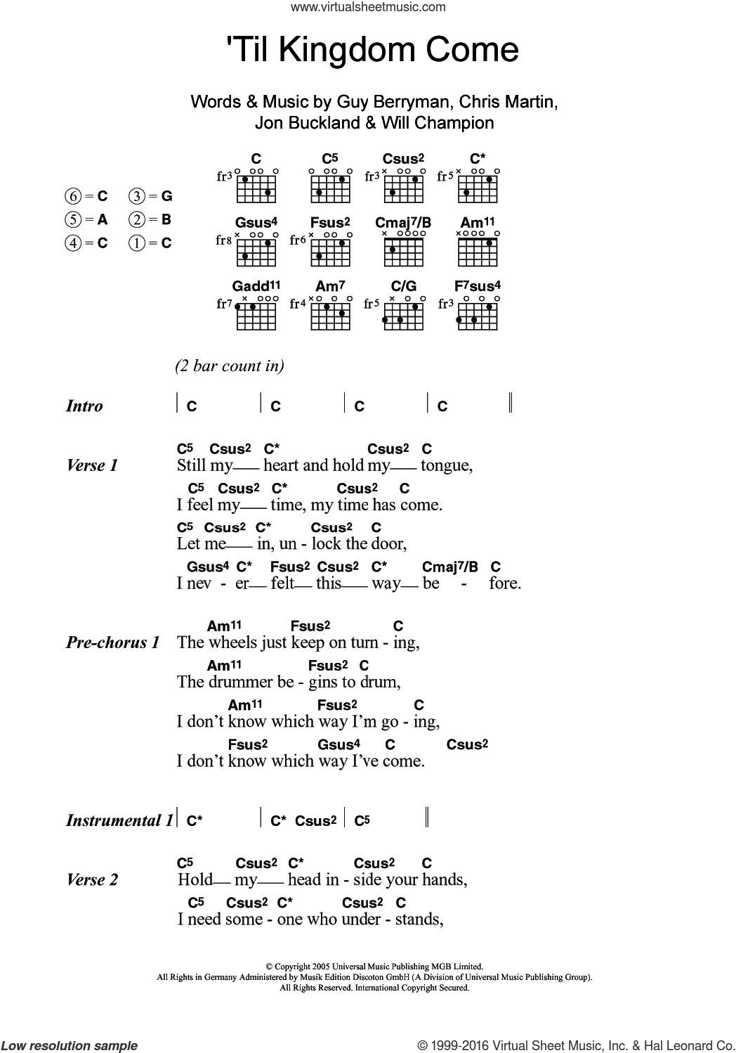 Heart of worship guitar chords images guitar chords examples csus2 guitar chord choice image guitar chords examples coldplay til kingdom come sheet music for guitar hexwebz Choice Image