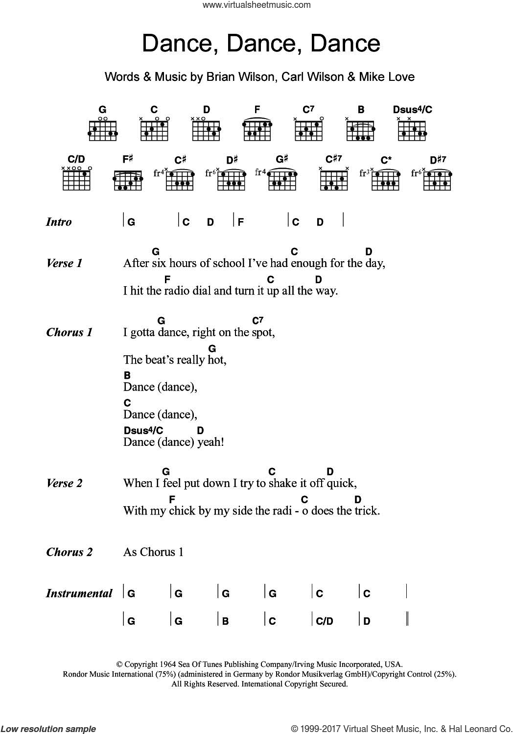 Boys Dance Dance Dance Sheet Music For Guitar Chords Pdf