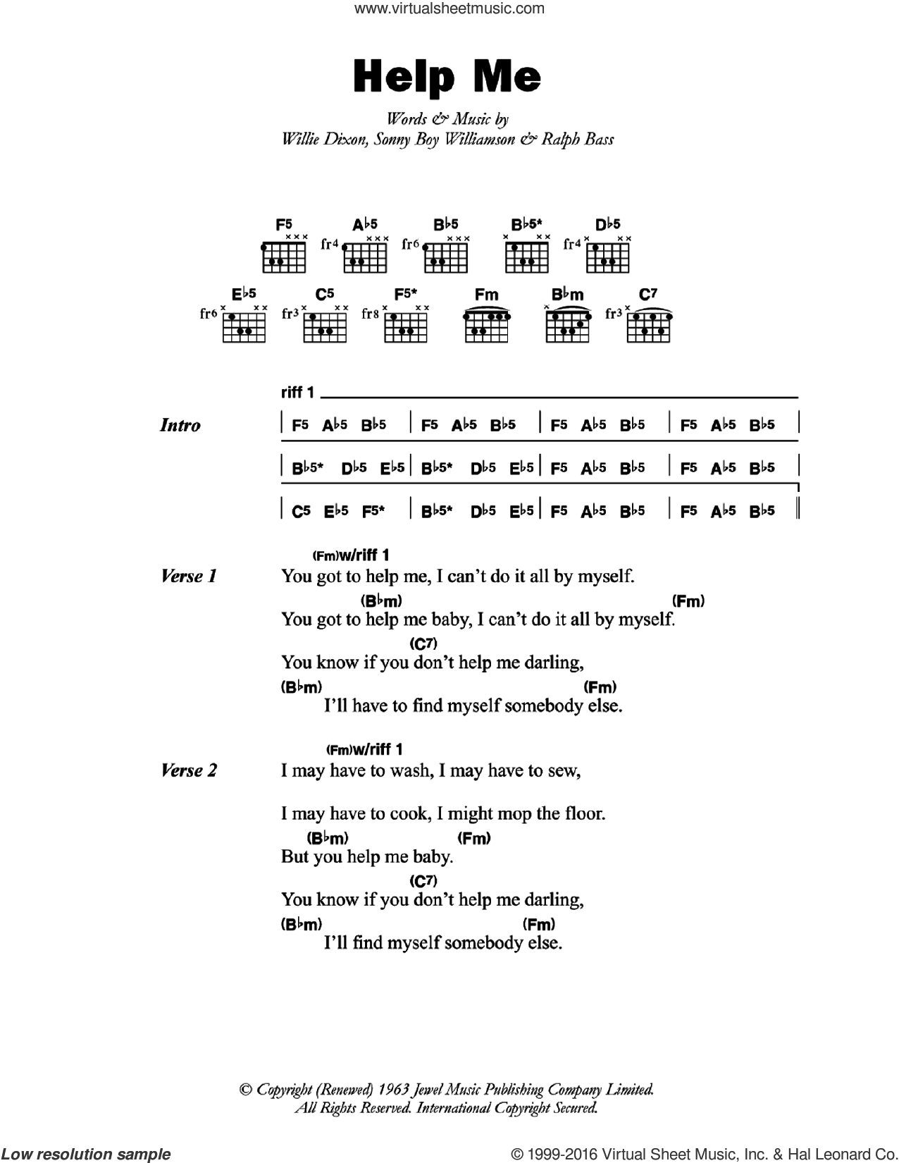 Williamson Help Me Sheet Music For Guitar Chords Pdf