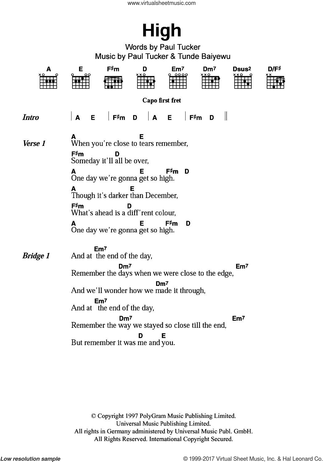 Family High Sheet Music For Guitar Chords Pdf